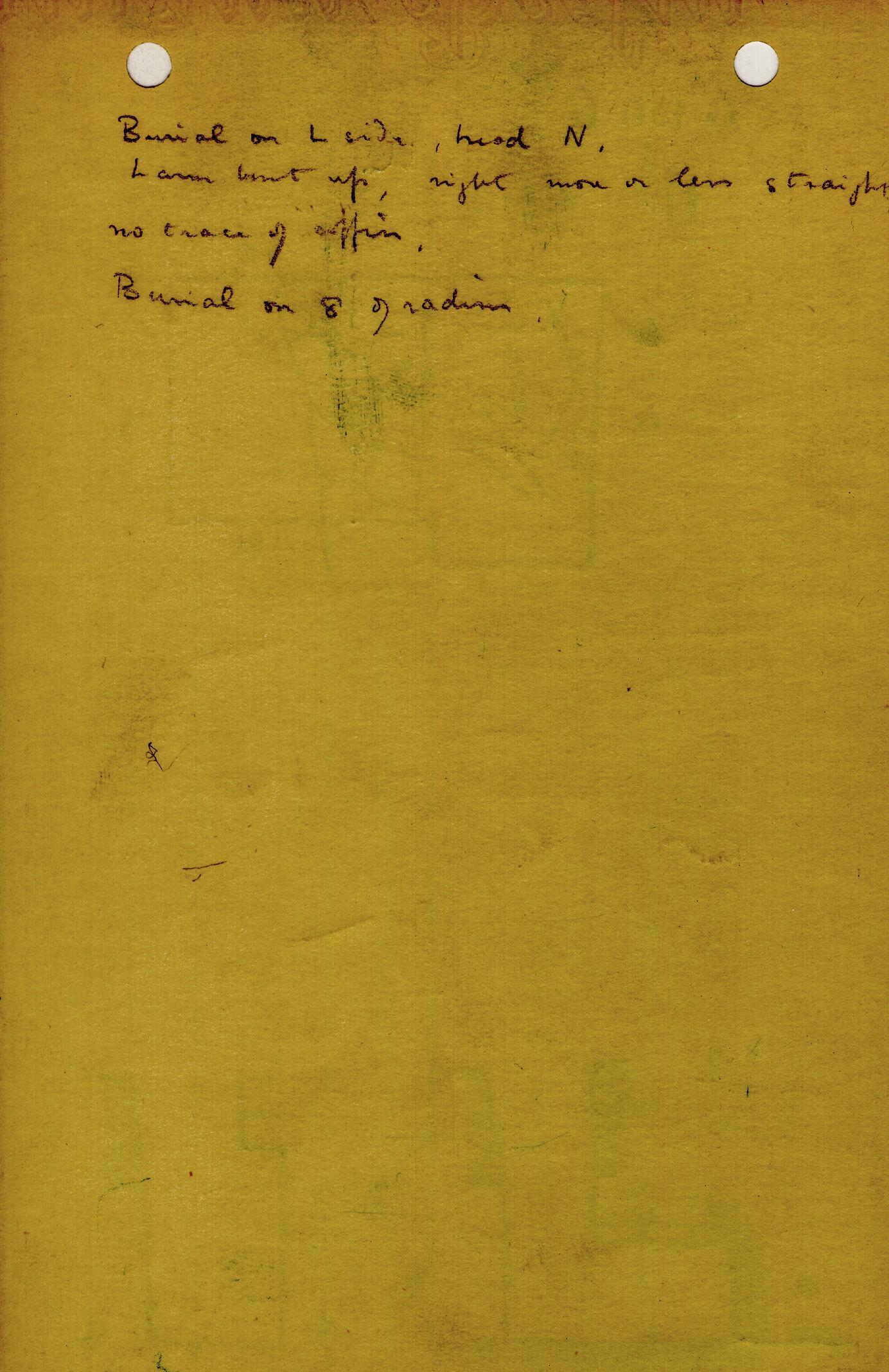 Notes: G 1311, Shaft U, notes