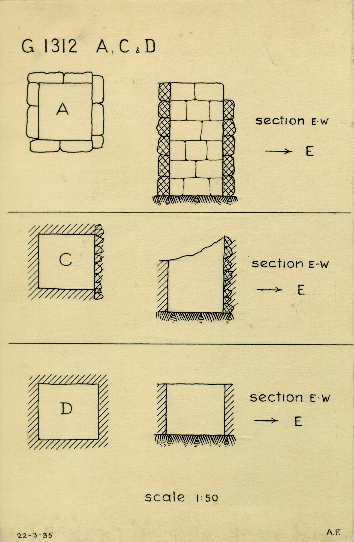 Maps and plans: G 1312, Shaft A, C, D