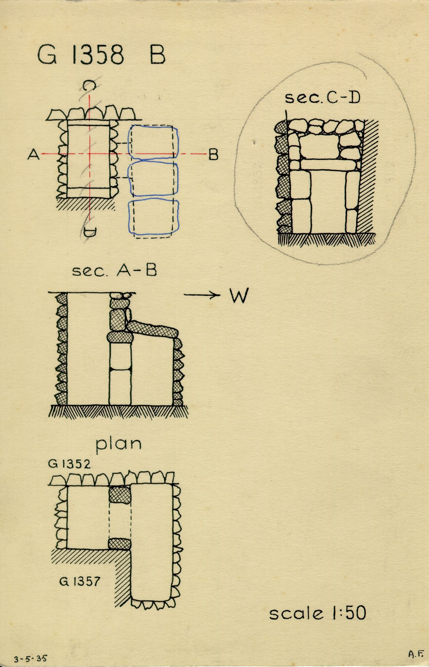 Maps and plans: G 1358, Shaft B