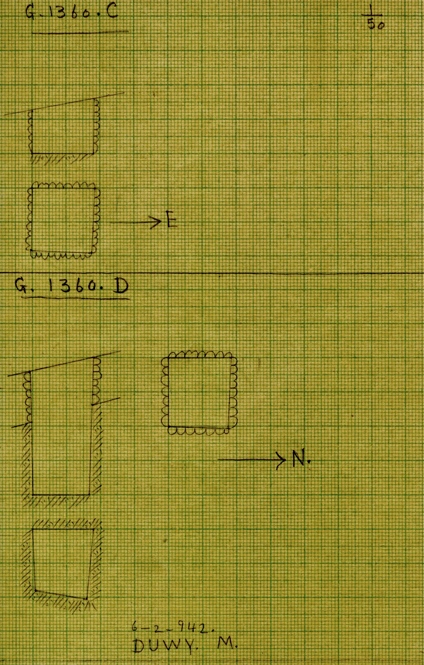 Maps and plans: G 1360, Shaft C and D