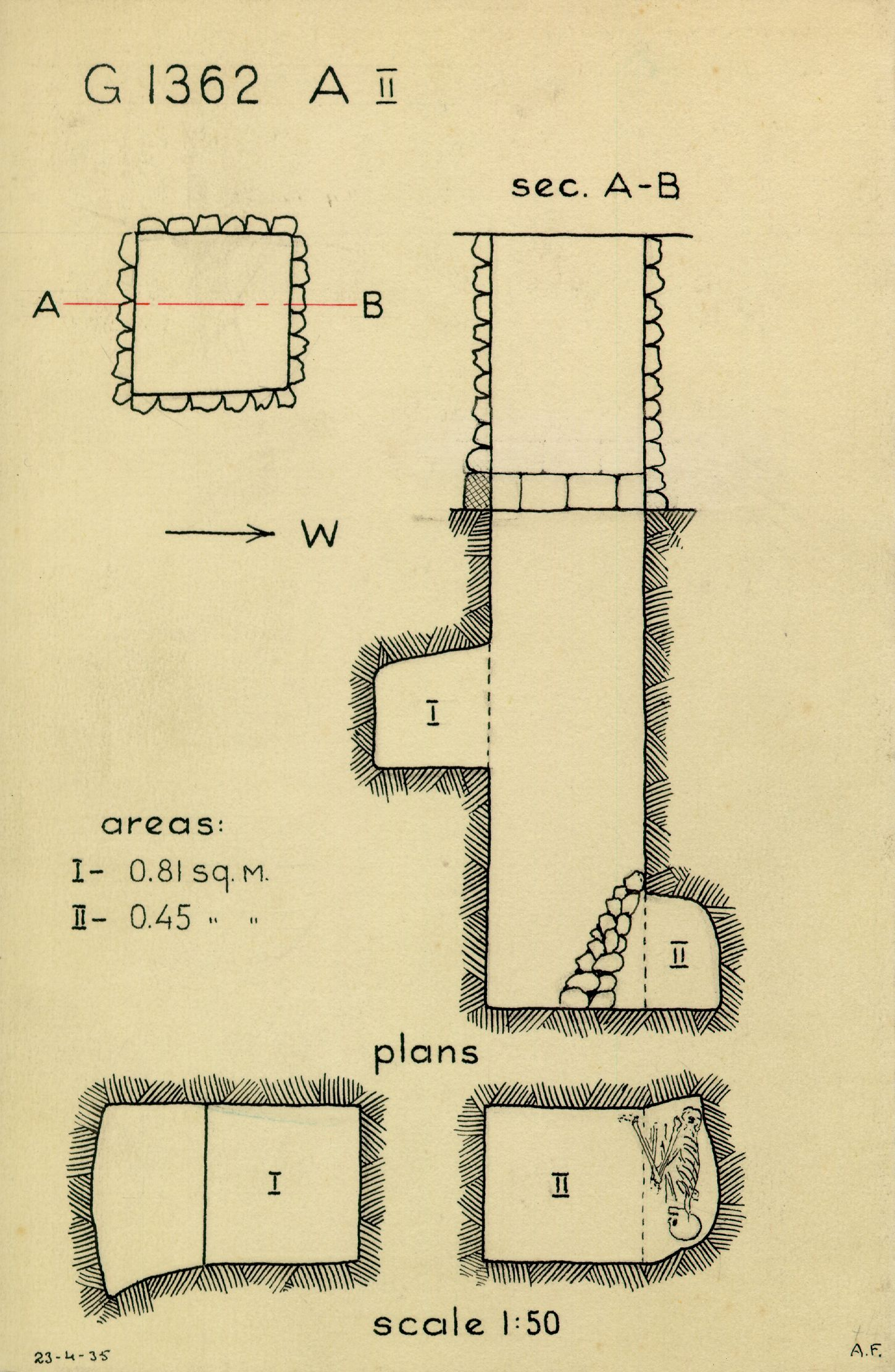 Maps and plans: G 1362, Shaft A (II)