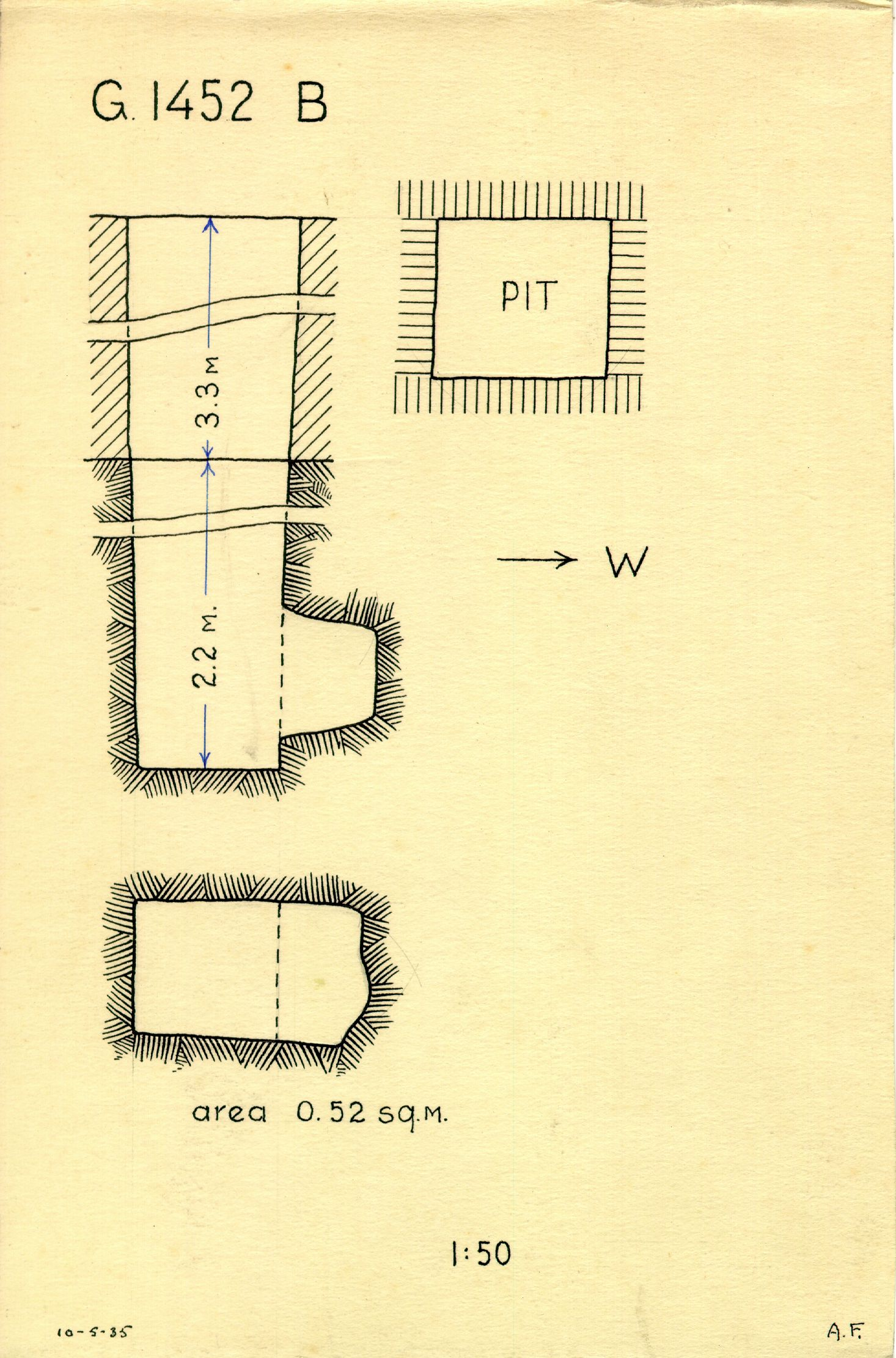 Maps and plans: G 1452+1453: G 1452, Shaft B