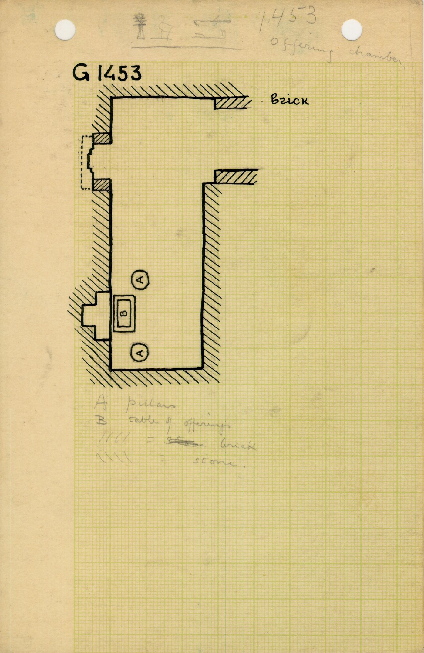 Maps and plans: G 1452+1453: G 1453, Plan of chapel