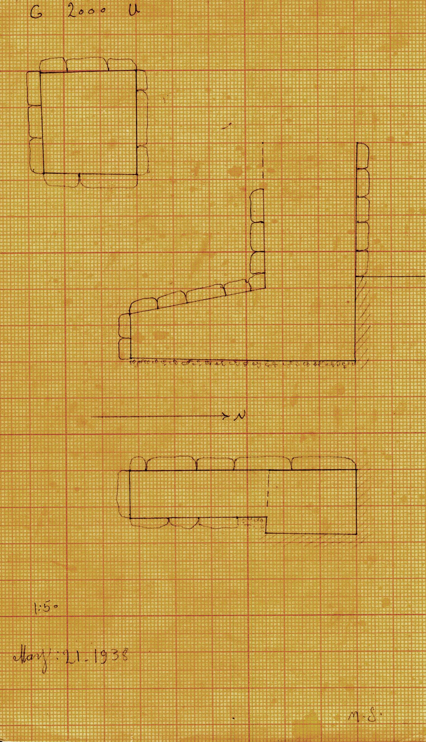 Maps and plans: G 2000, Shaft U