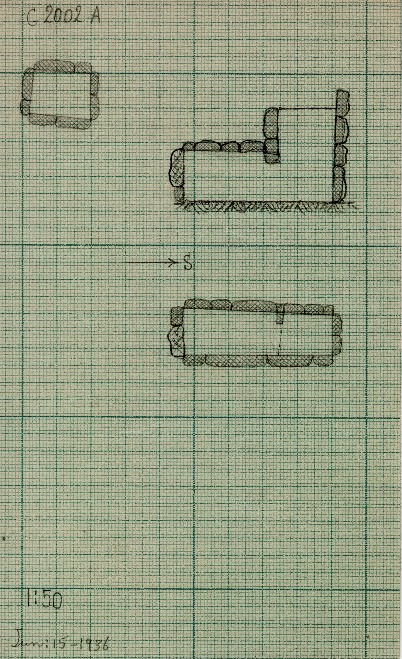 Maps and plans: G 2002, Shaft A