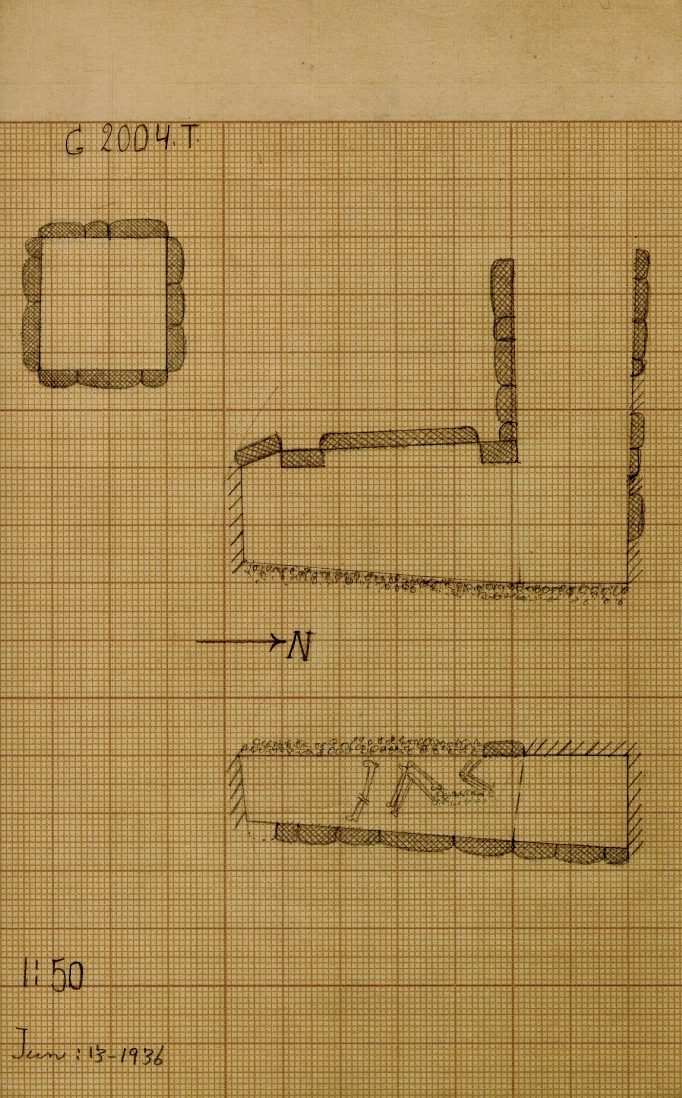 Maps and plans: G 2004, Shaft T