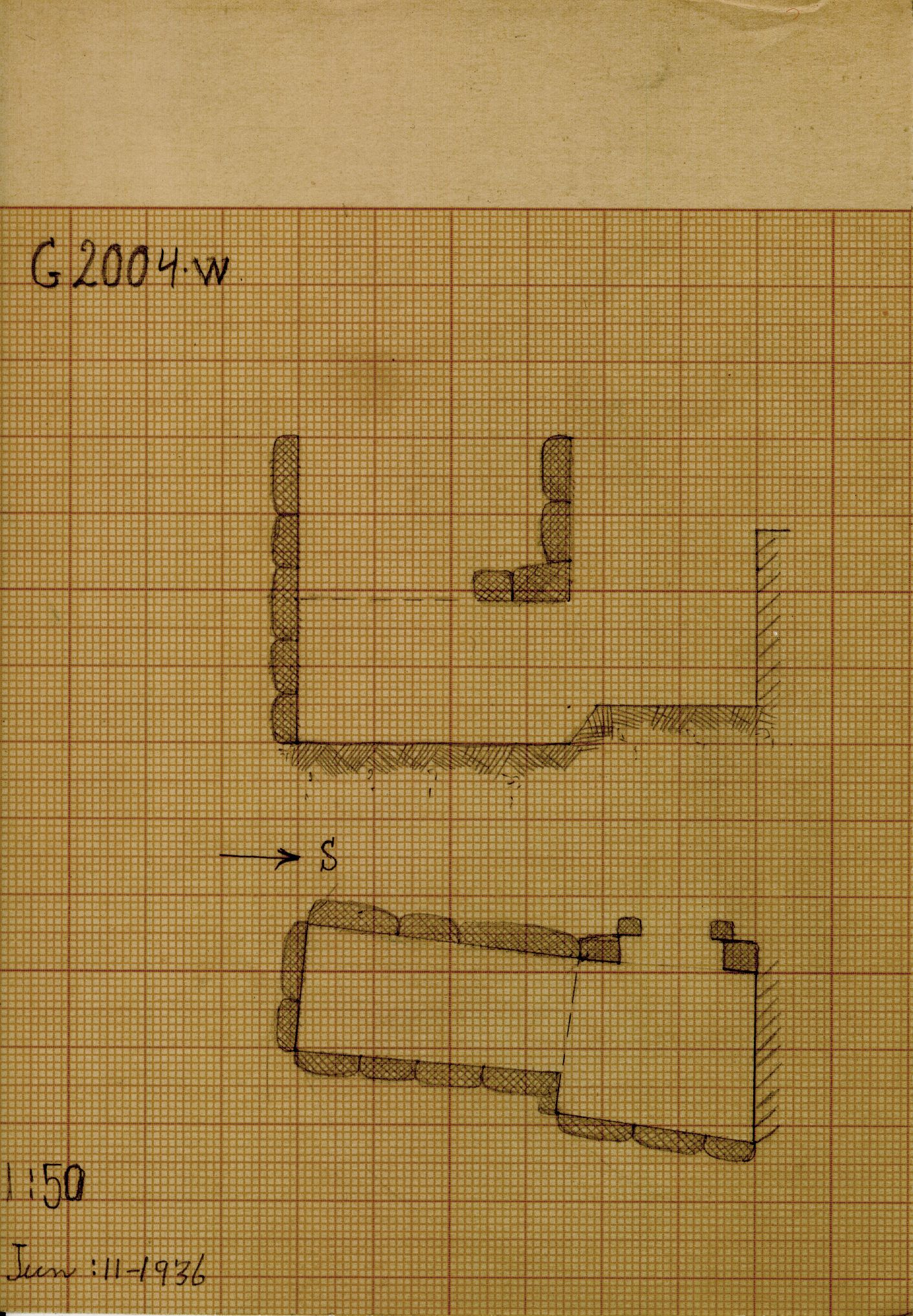 Maps and plans: G 2004, Shaft W