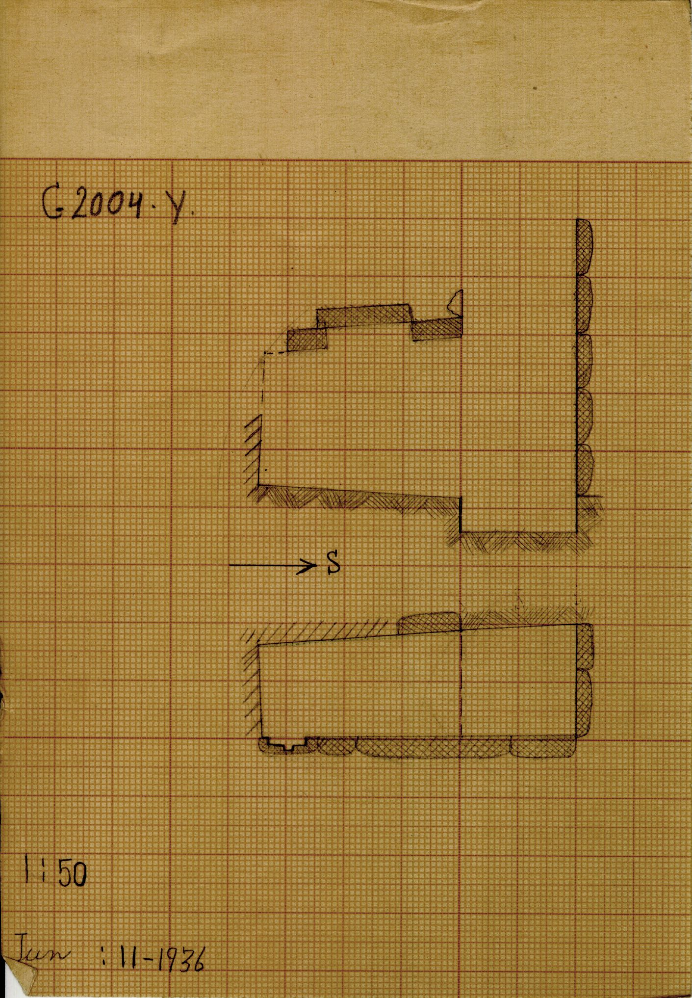 Maps and plans: G 2004, Shaft Y