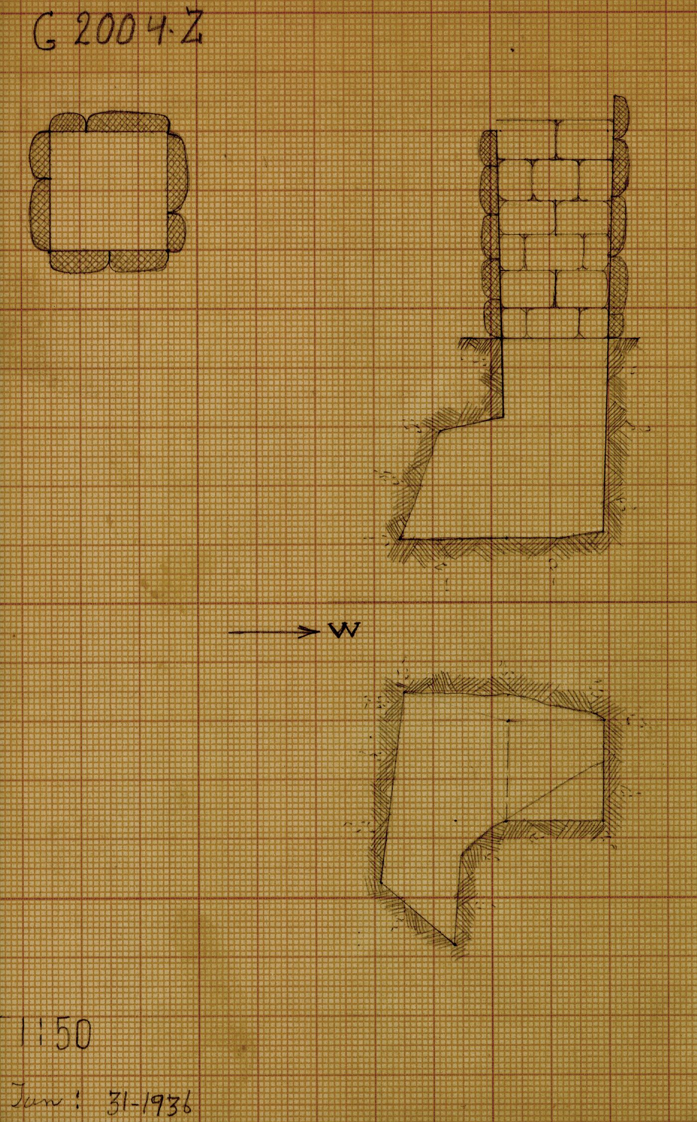 Maps and plans: G 2004, Shaft Z