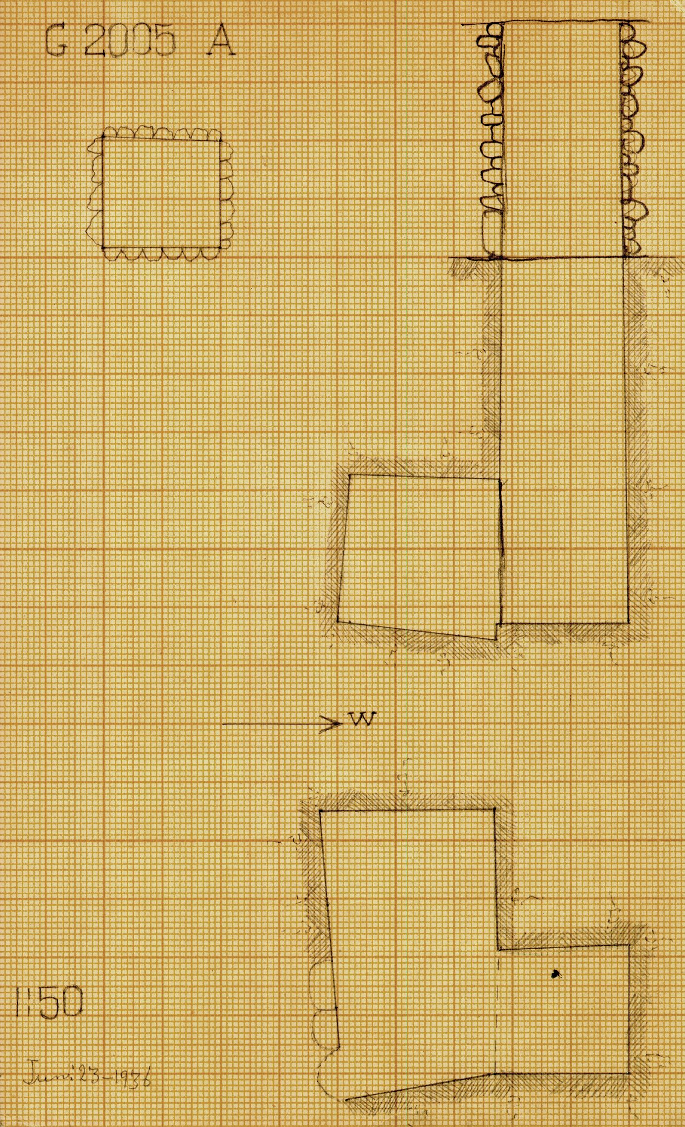 Maps and plans: G 2005, Shaft A