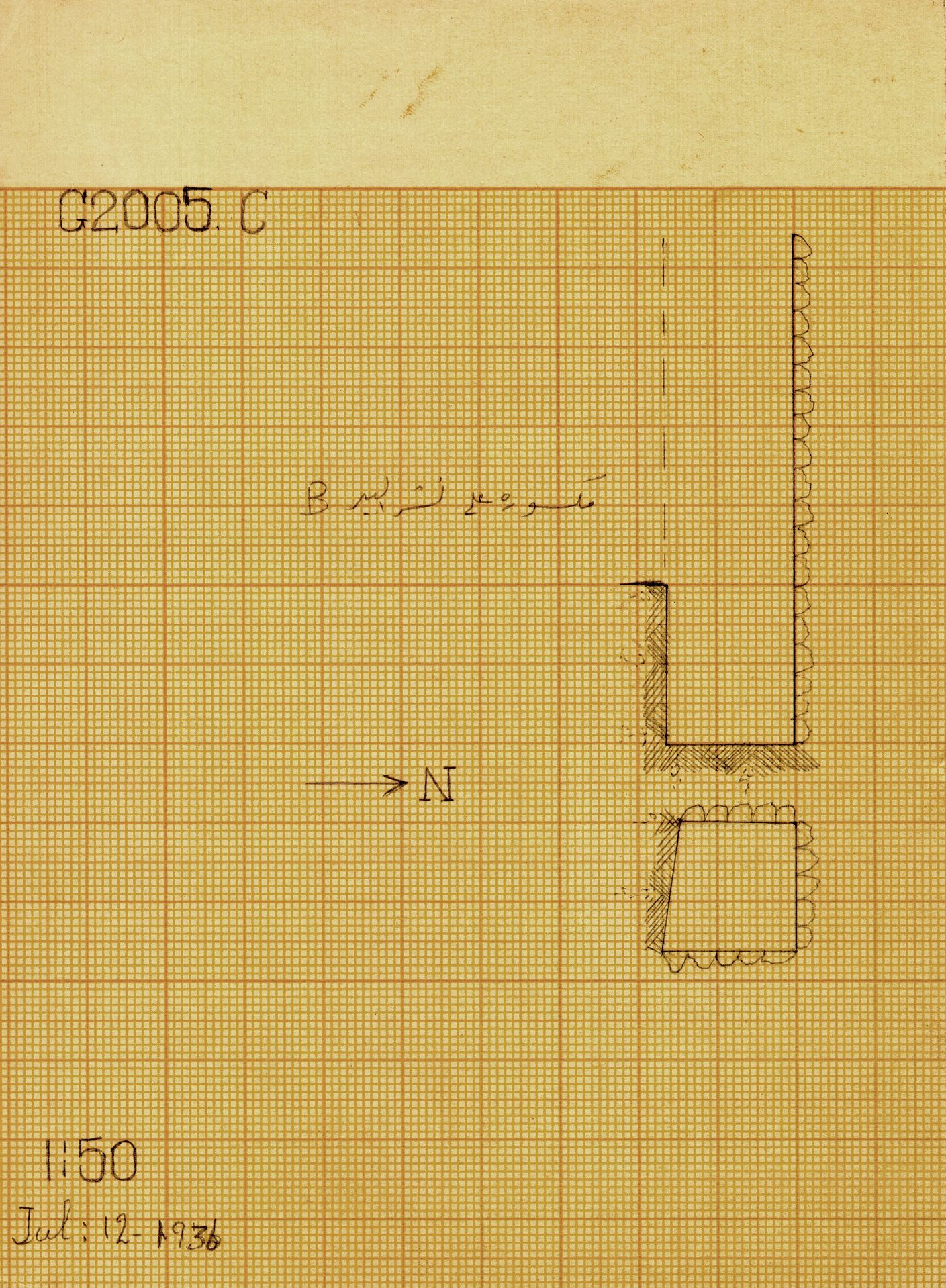 Maps and plans: G 2005, Shaft C