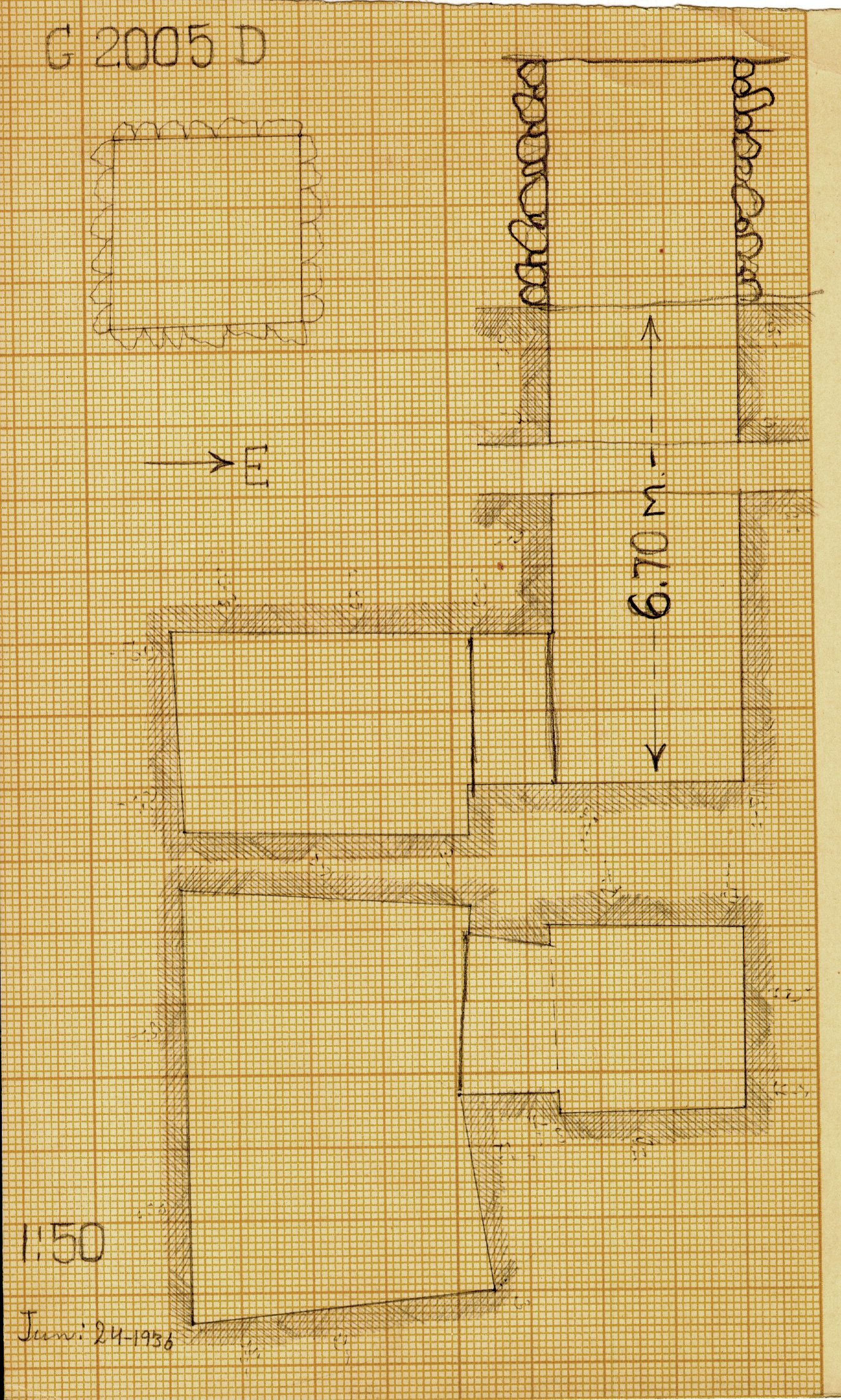 Maps and plans: G 2005, Shaft D