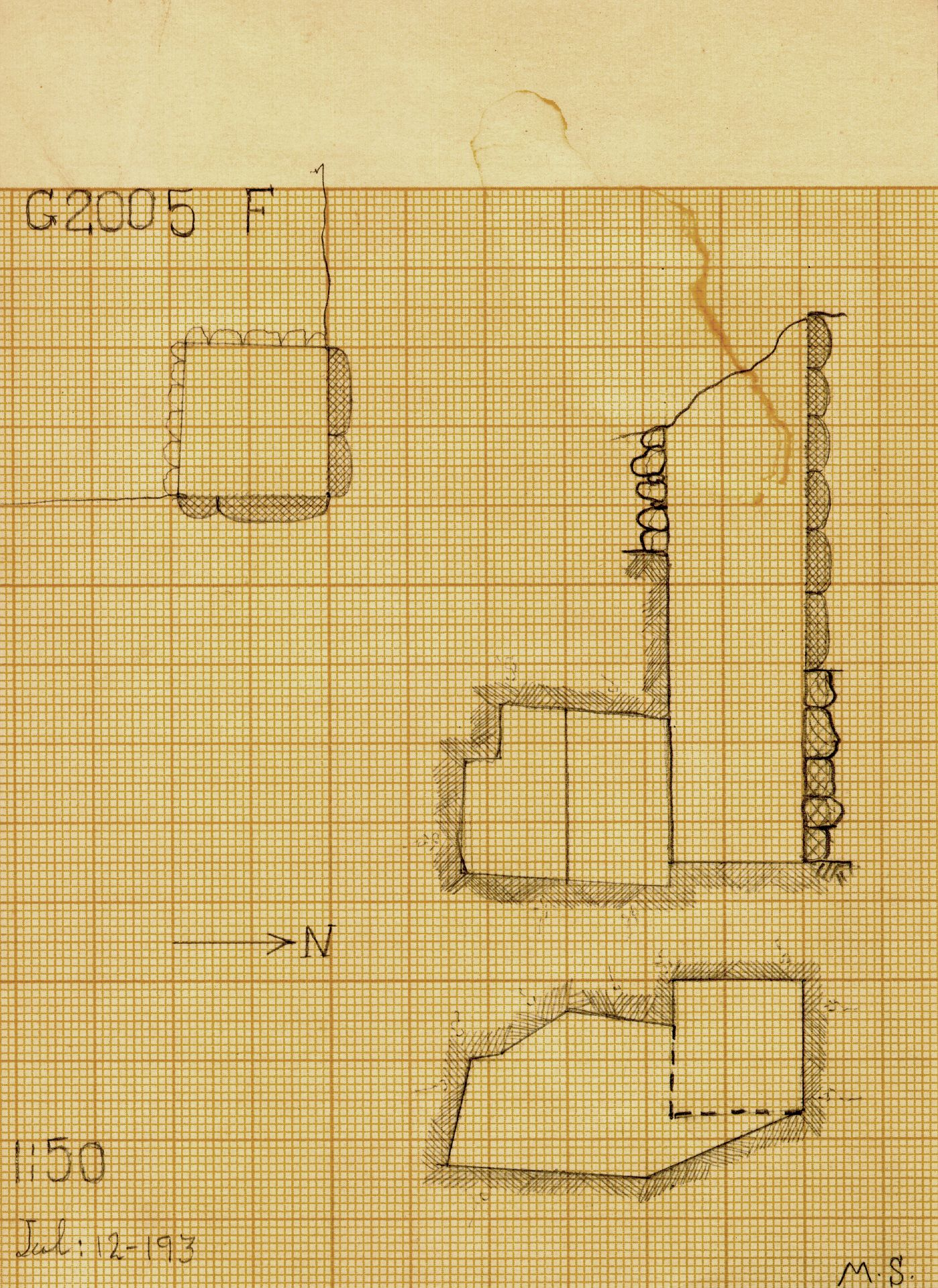 Maps and plans: G 2005, Shaft F