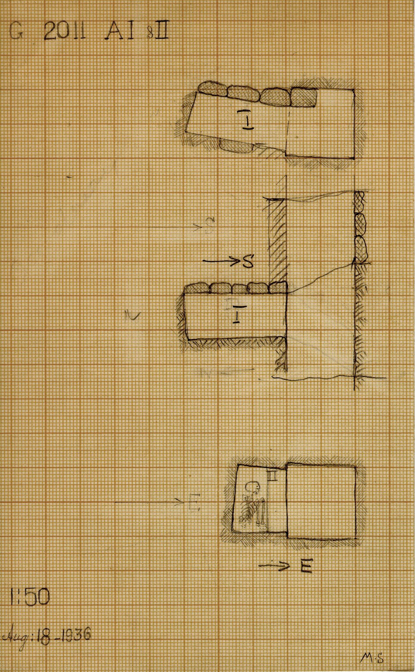 Maps and plans: G 2011, Shaft A (I & II)