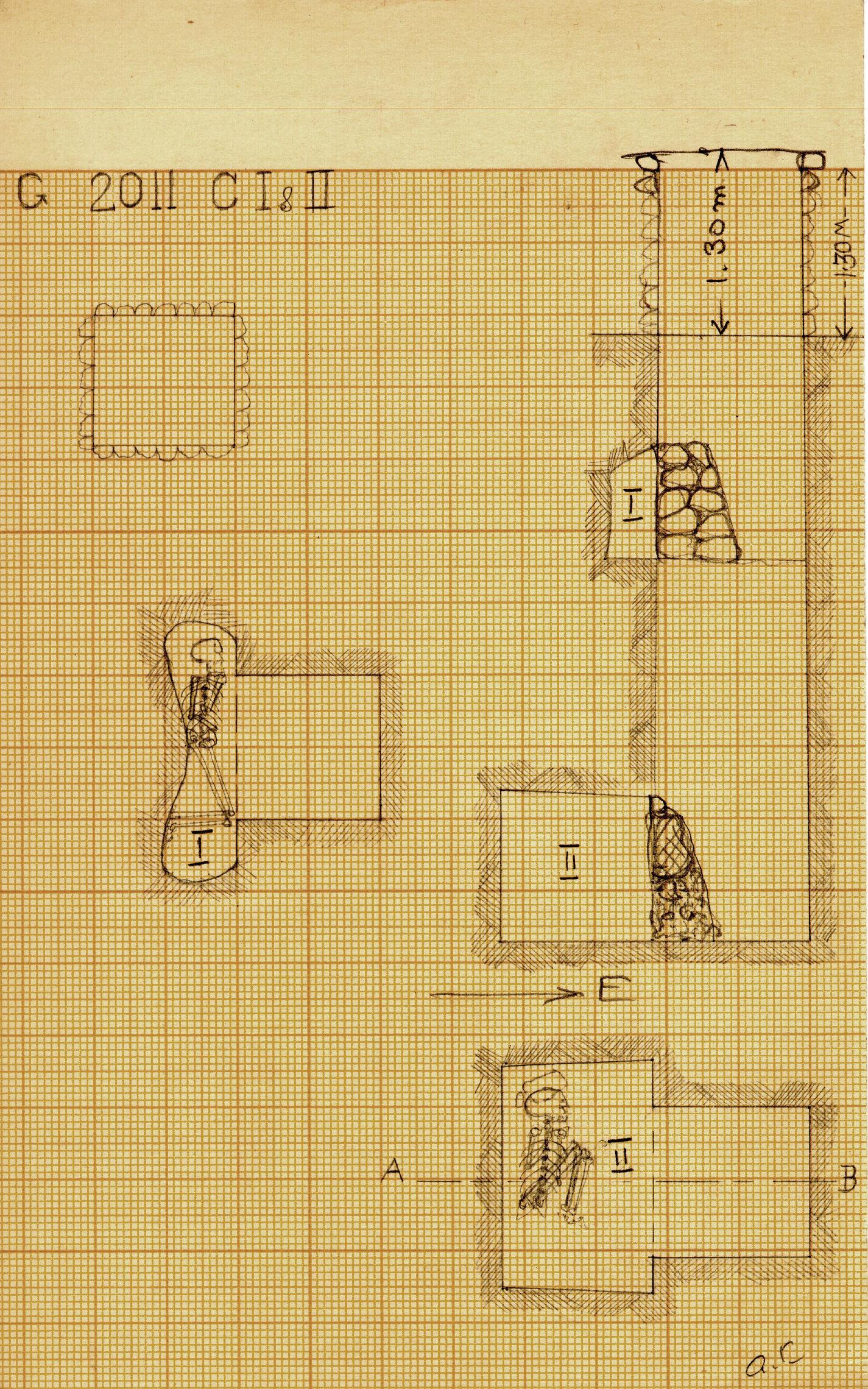 Maps and plans: G 2011, Shaft C (I & II)