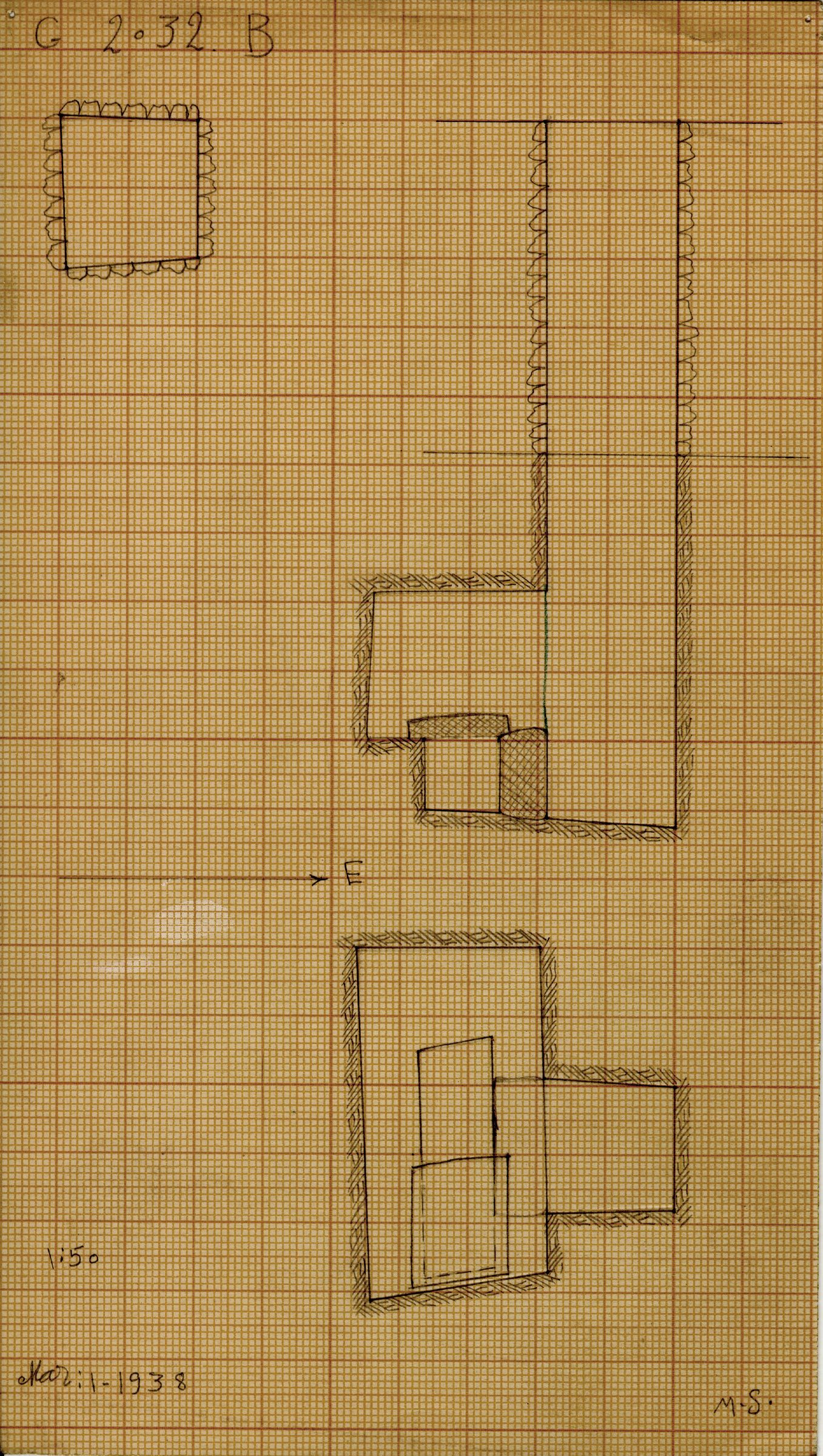 Maps and plans: G 2032, Shaft B