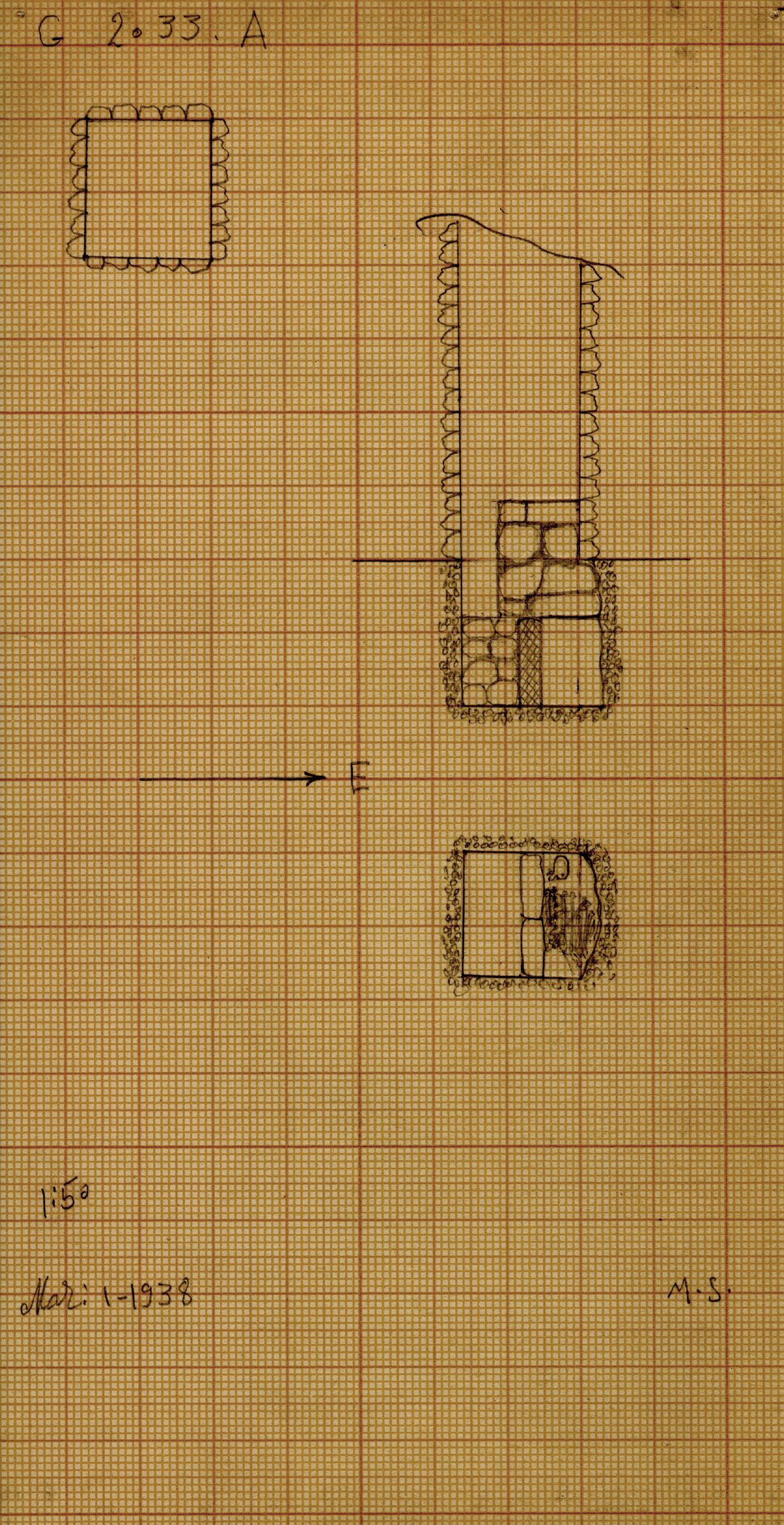 Maps and plans: G 2033, Shaft A