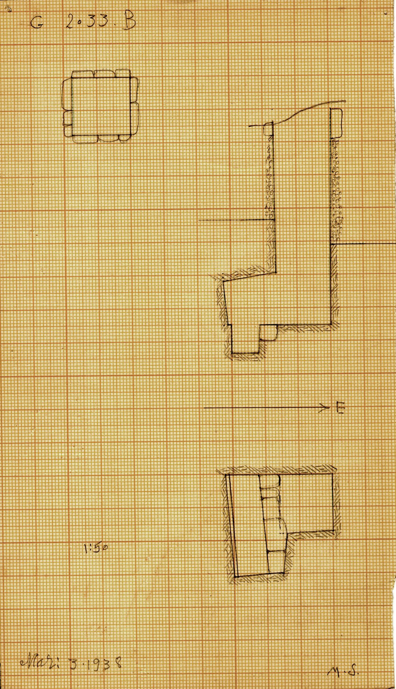 Maps and plans: G 2033, Shaft B