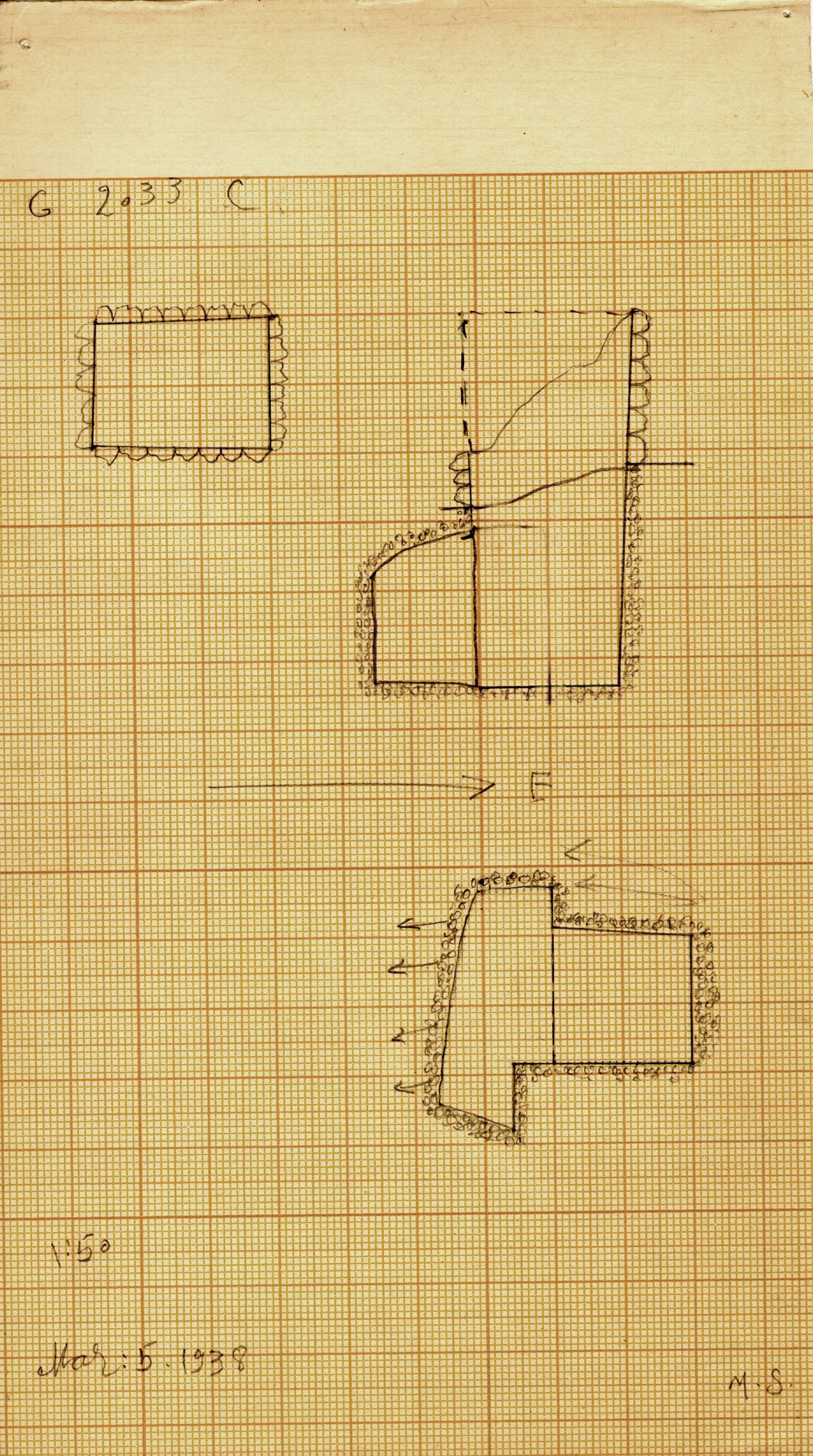 Maps and plans: G 2033, Shaft C