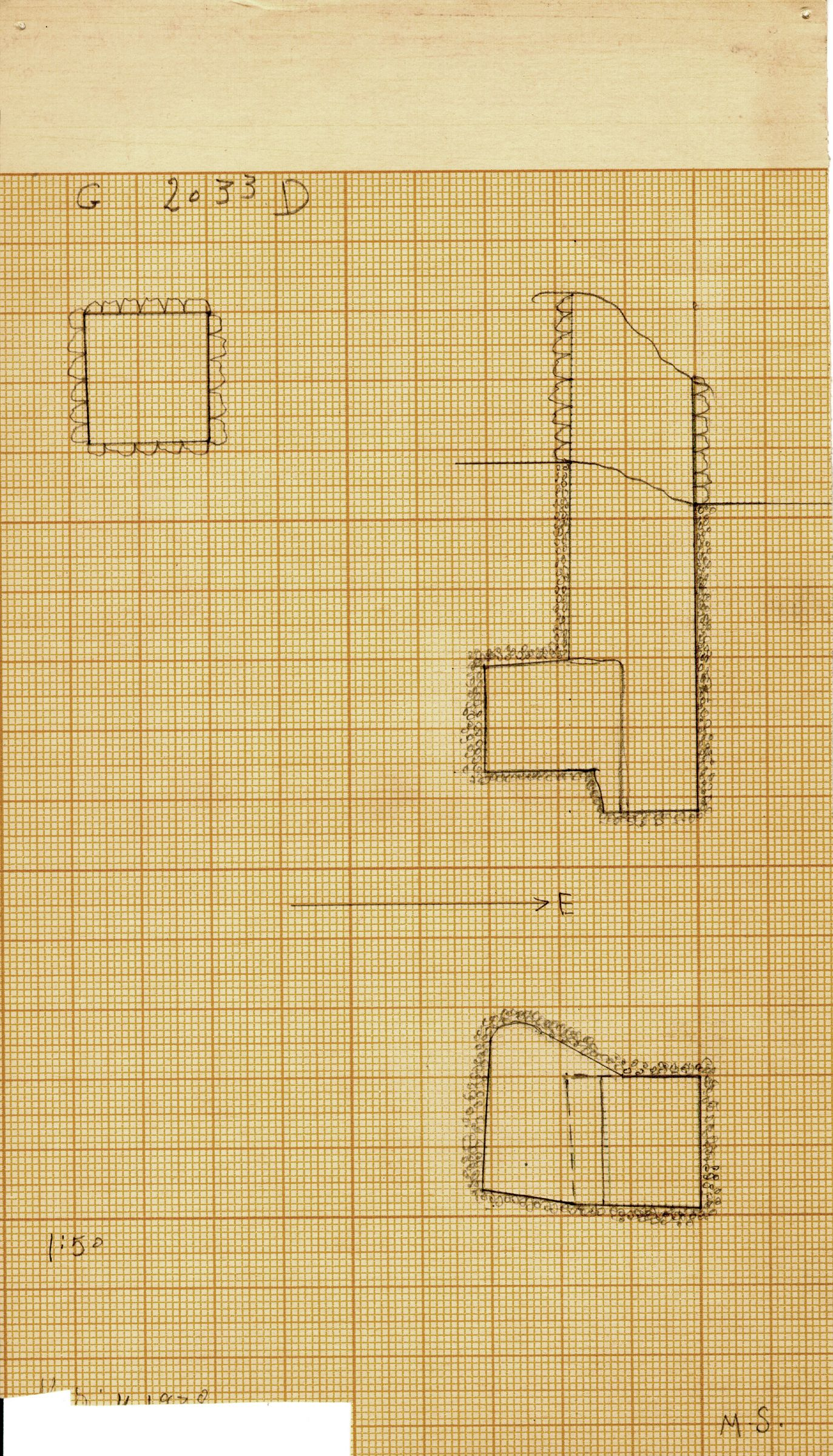 Maps and plans: G 2033, Shaft D