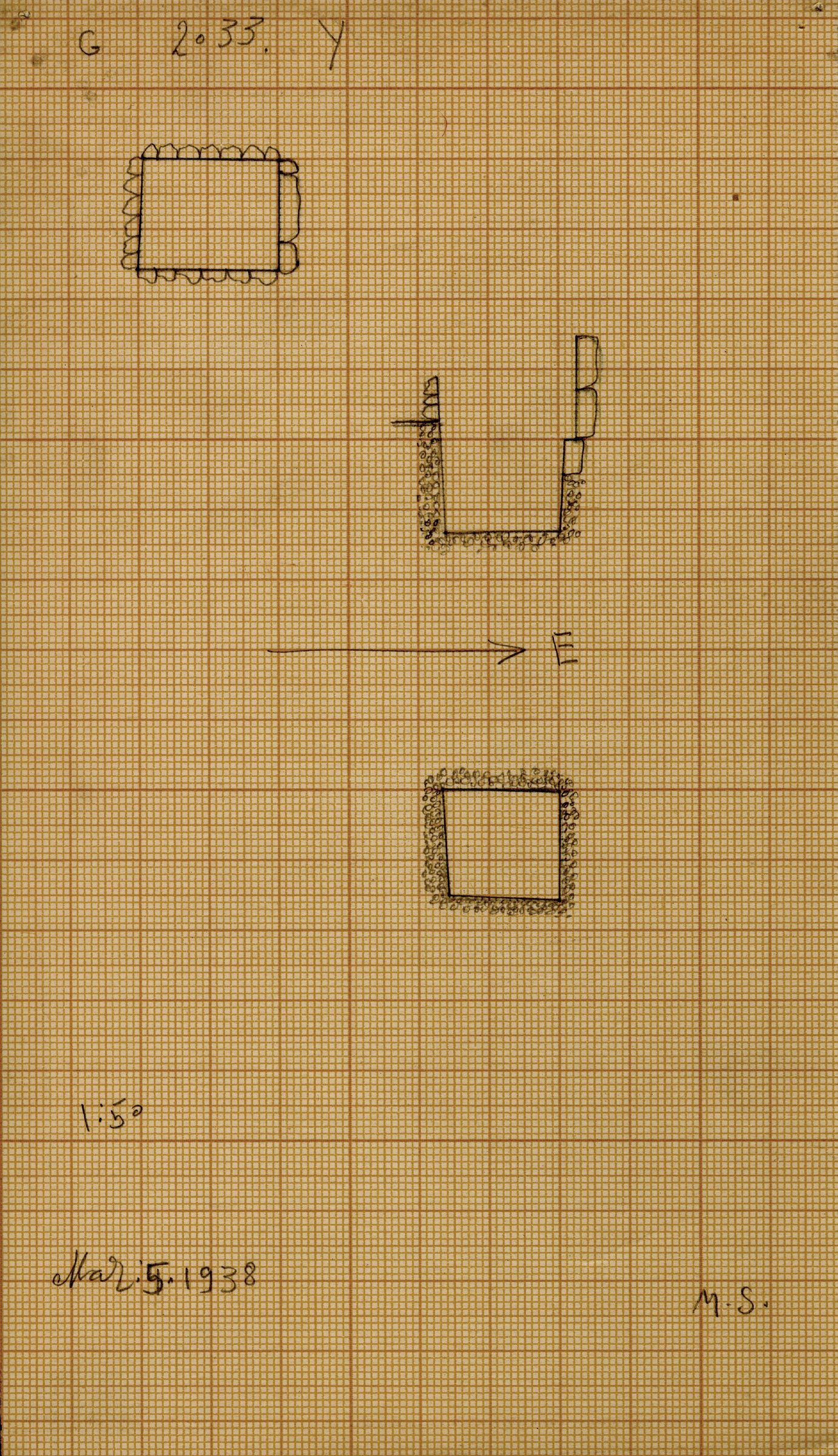 Maps and plans: G 2033, Shaft Y