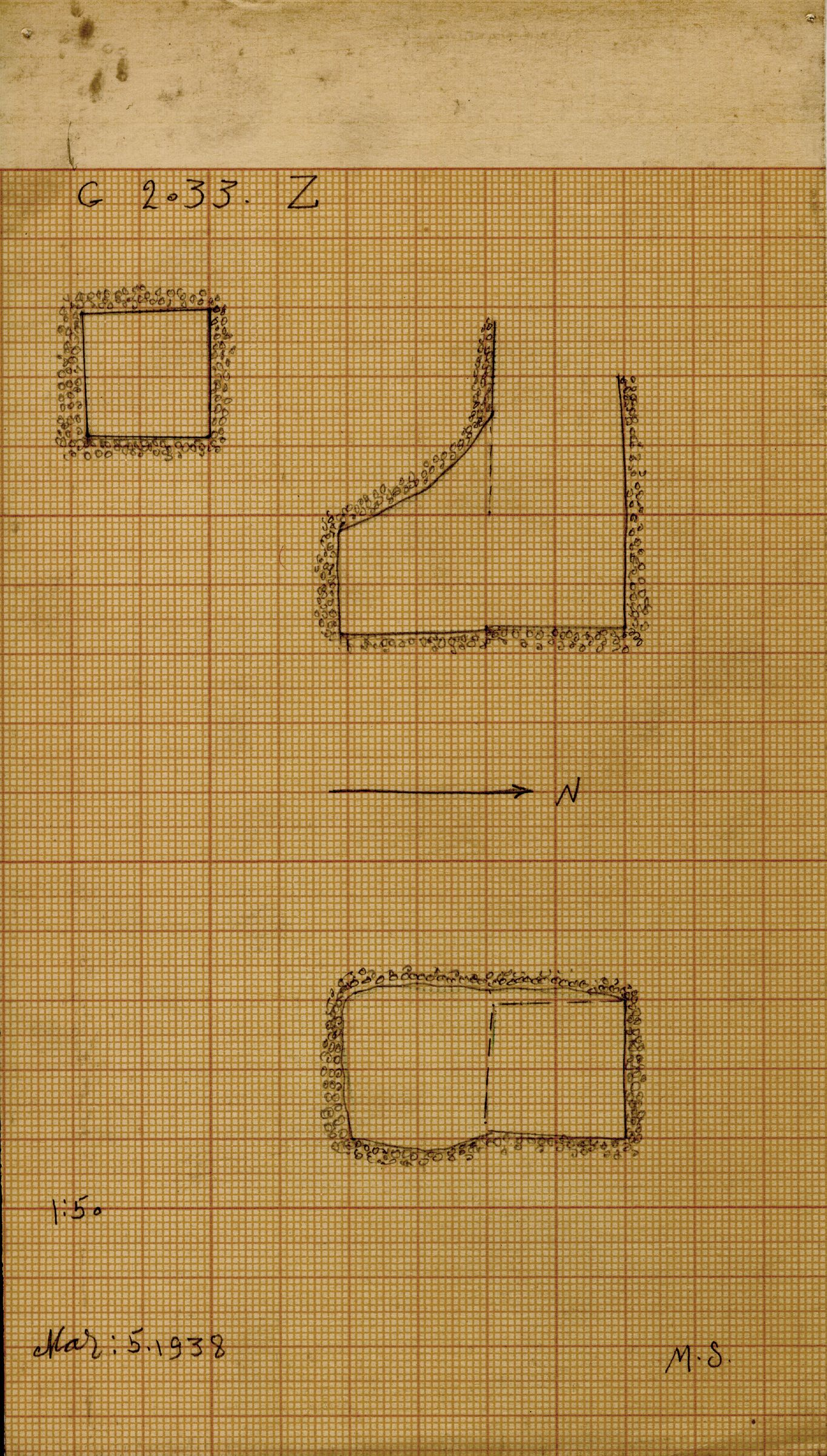 Maps and plans: G 2033, Shaft Z