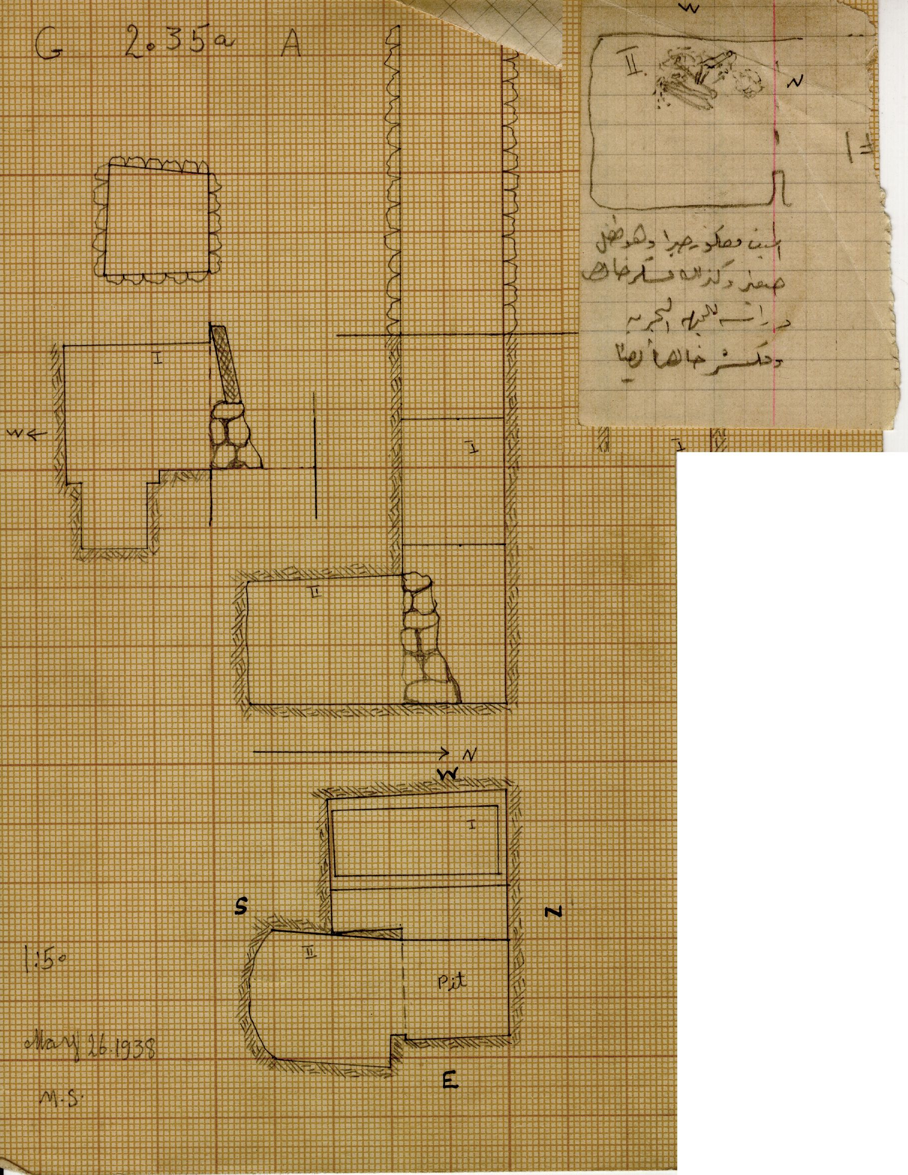 Maps and plans: G 2035a, Shaft A