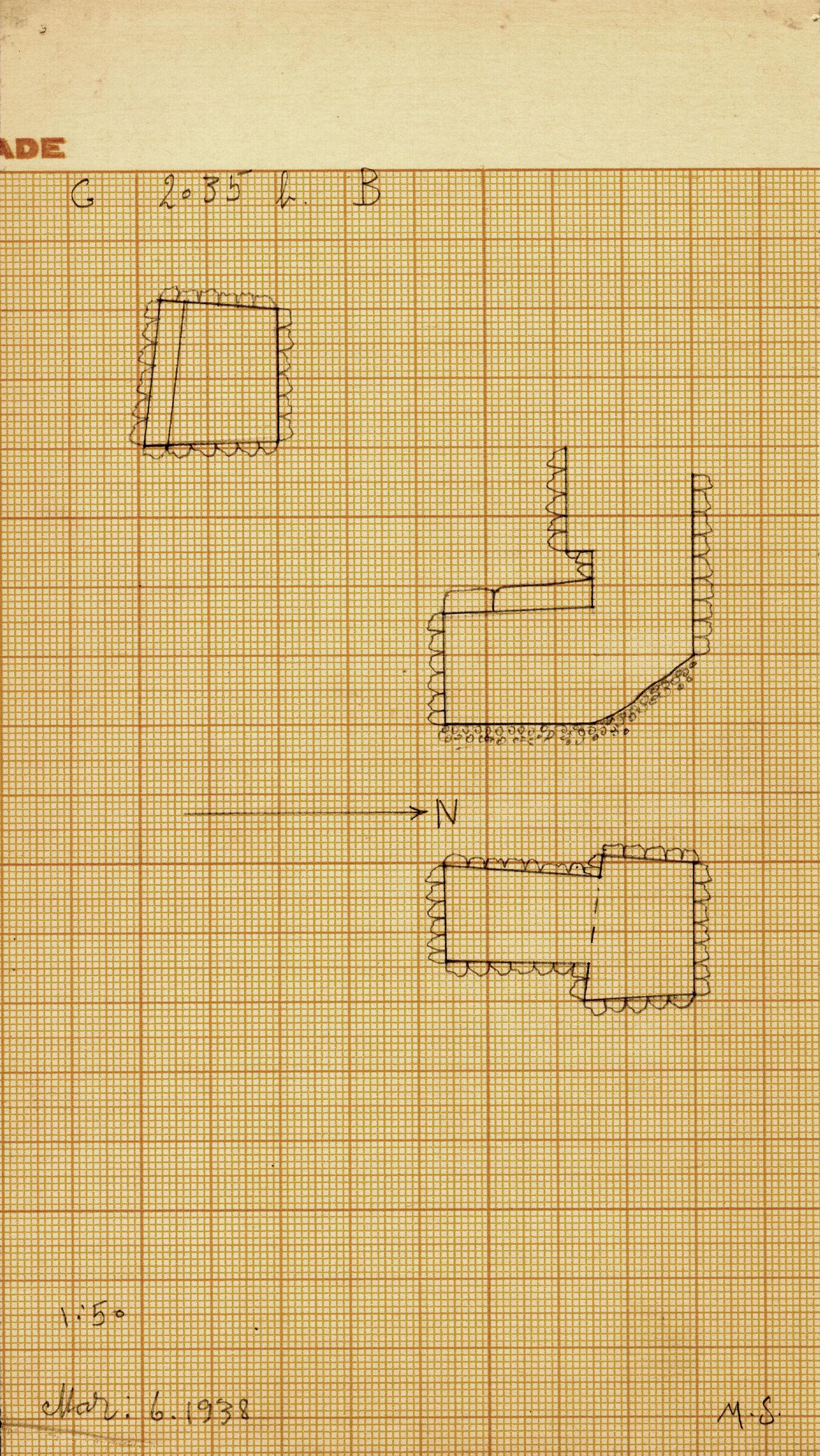 Maps and plans: G 2035b, Shaft B