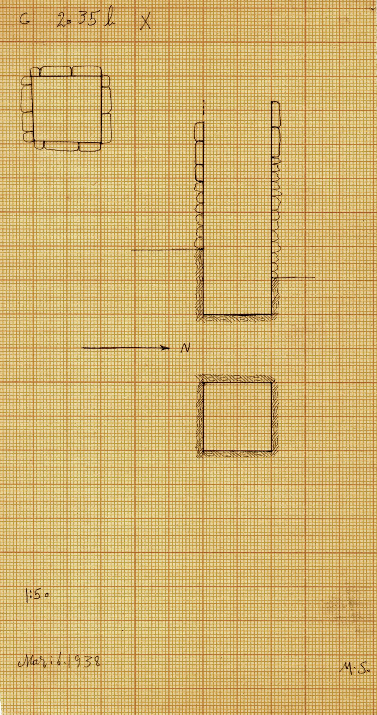 Maps and plans: G 2035b, Shaft X