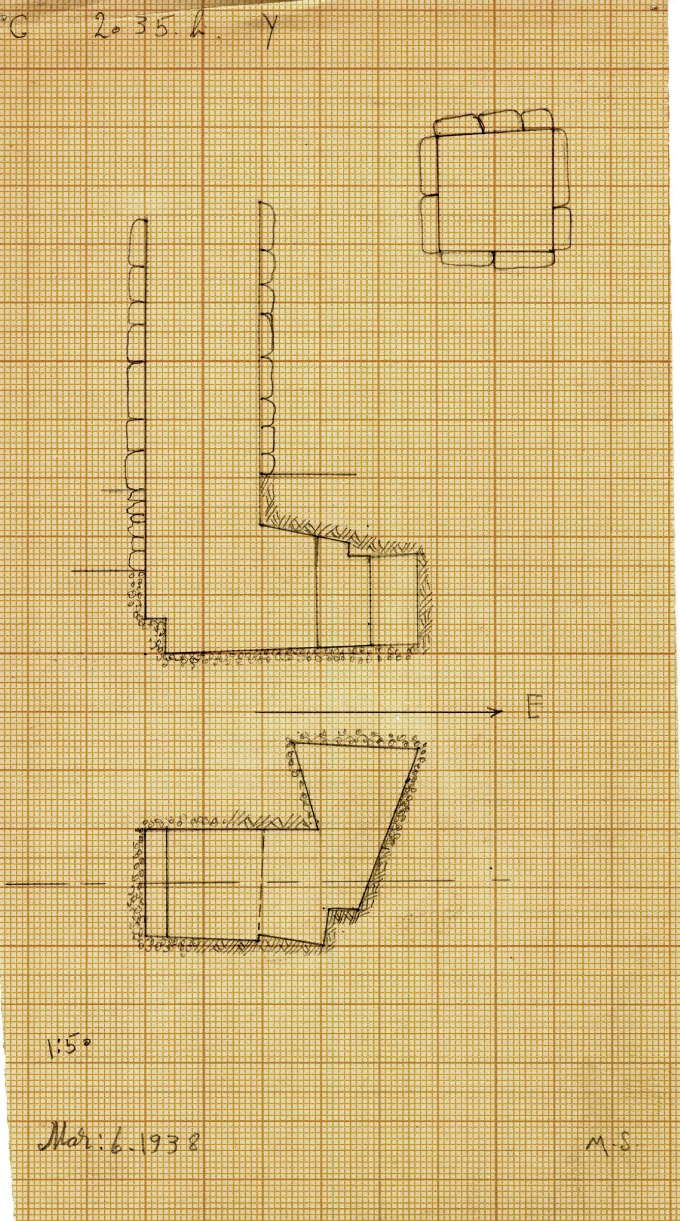 Maps and plans: G 2035b, Shaft Y