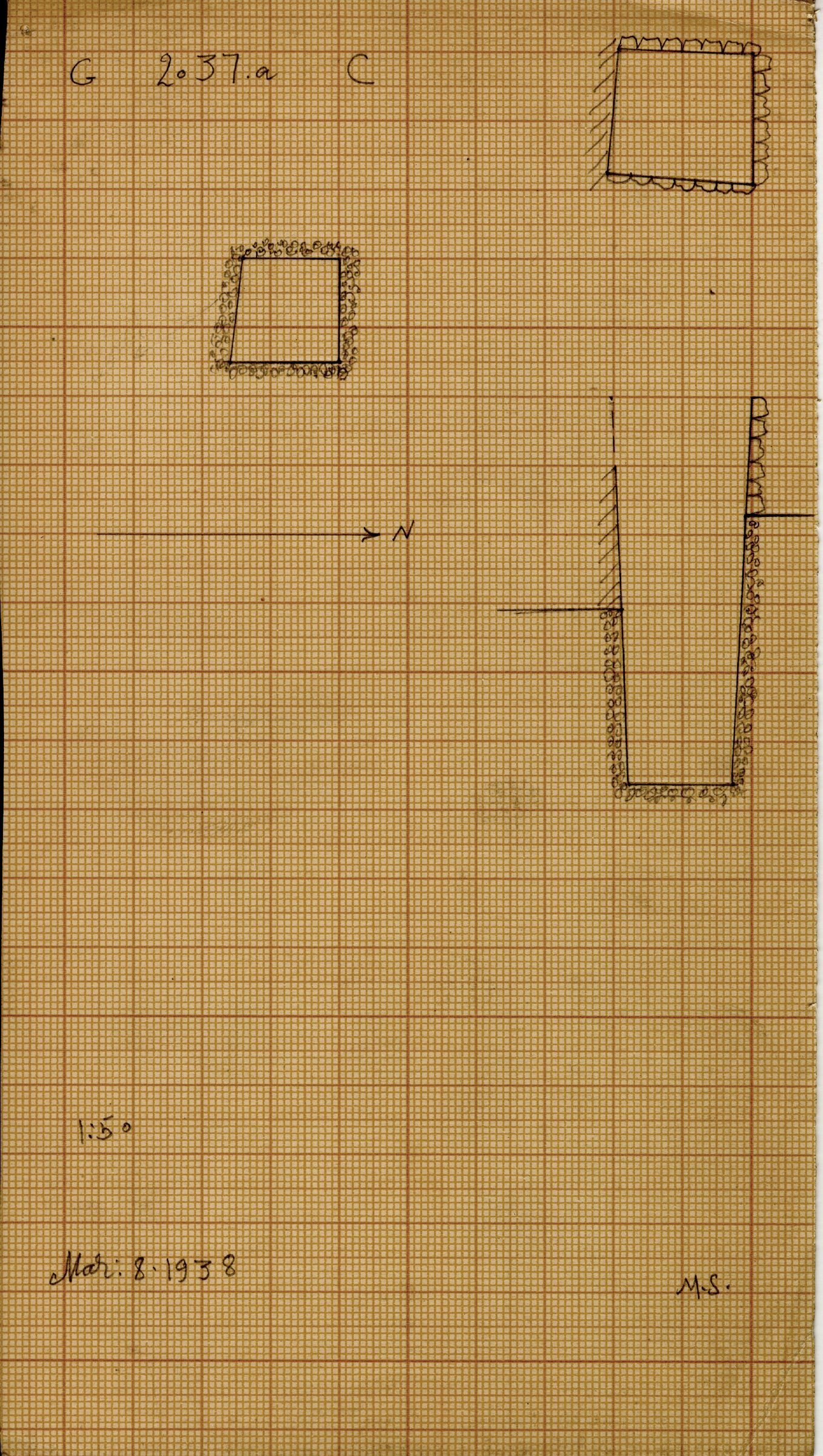 Maps and plans: G 2037a, Shaft C