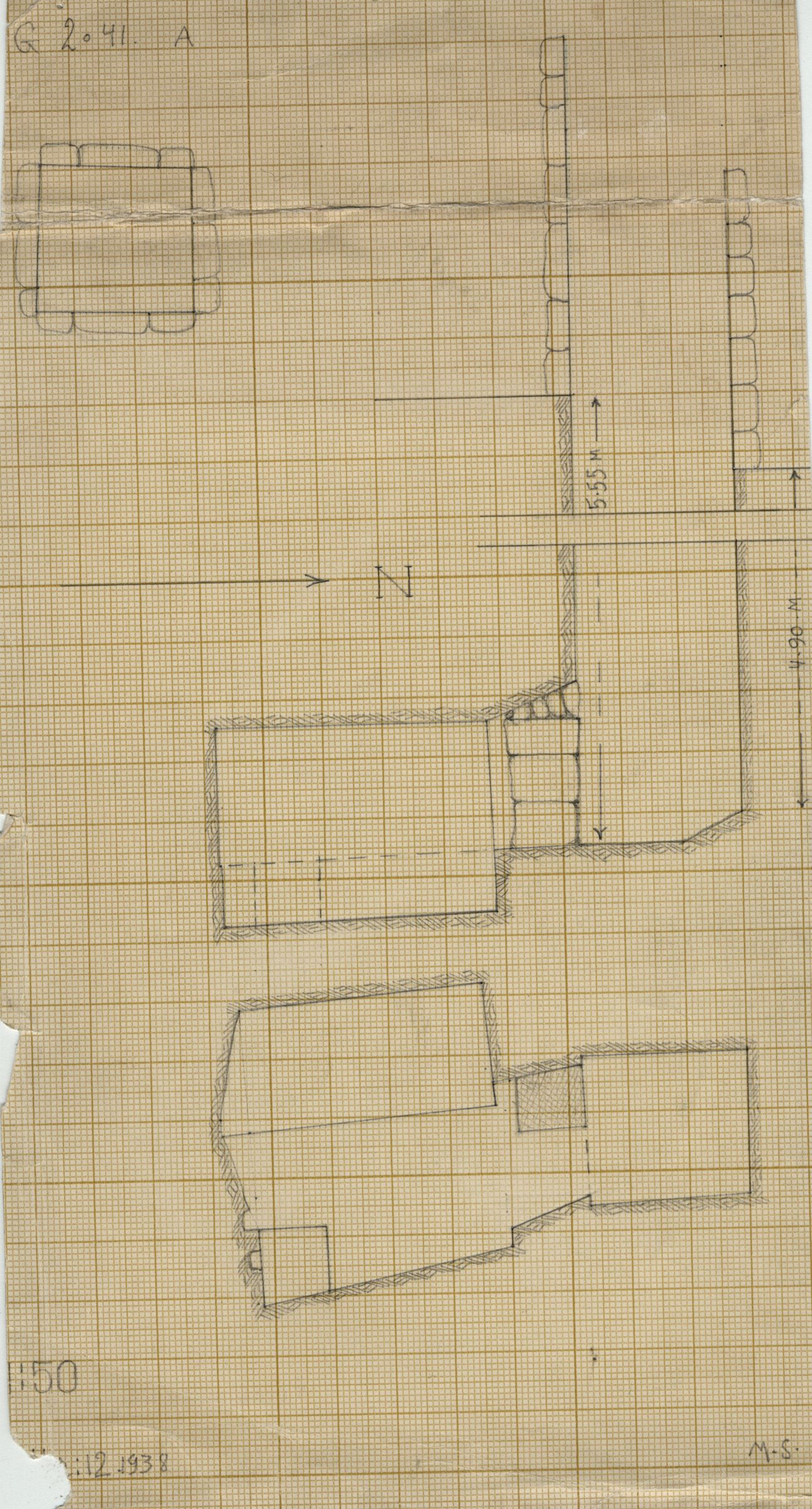 Maps and plans: G 2041, Shaft A