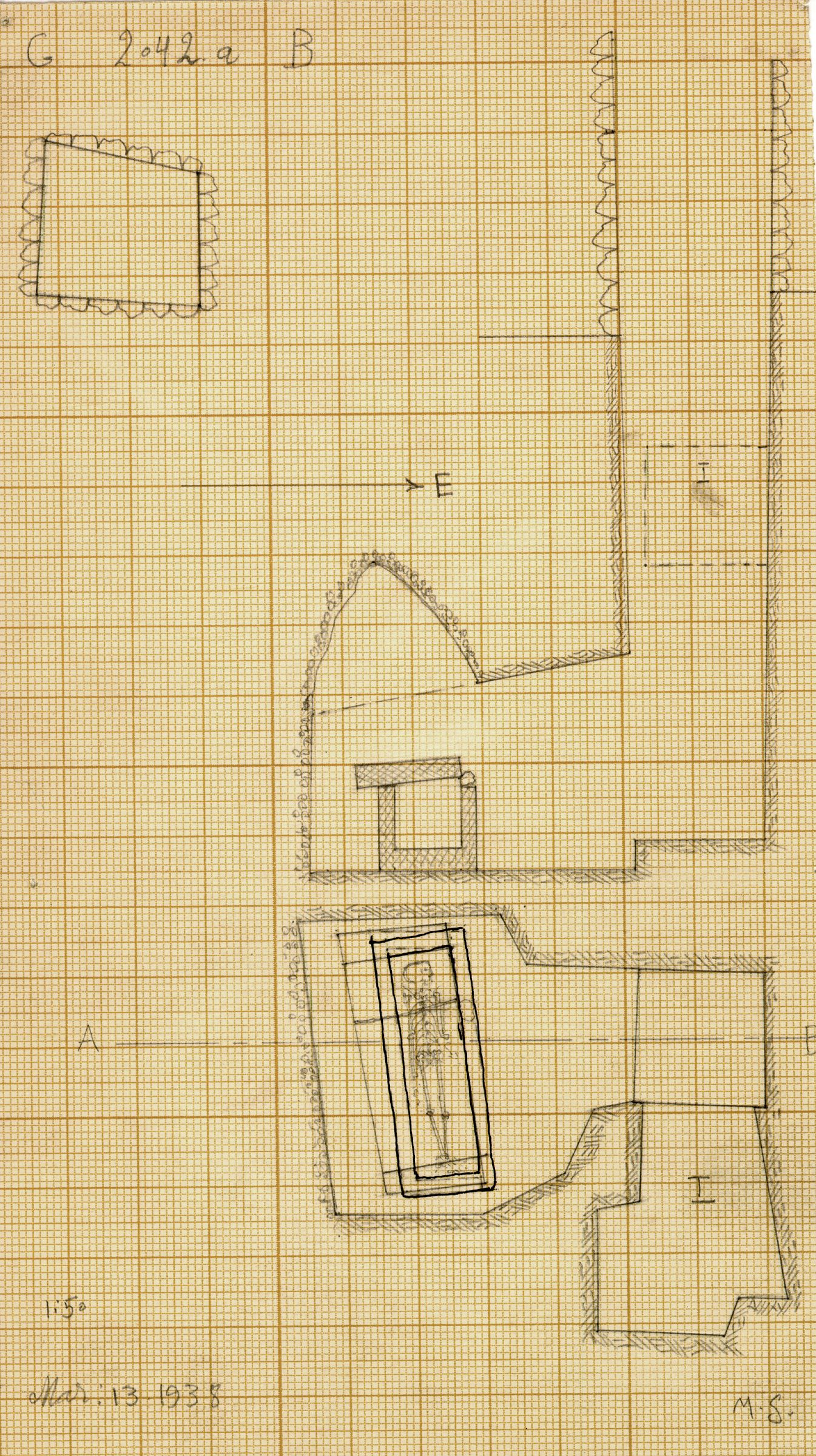 Maps and plans: G 2042a, Shaft B