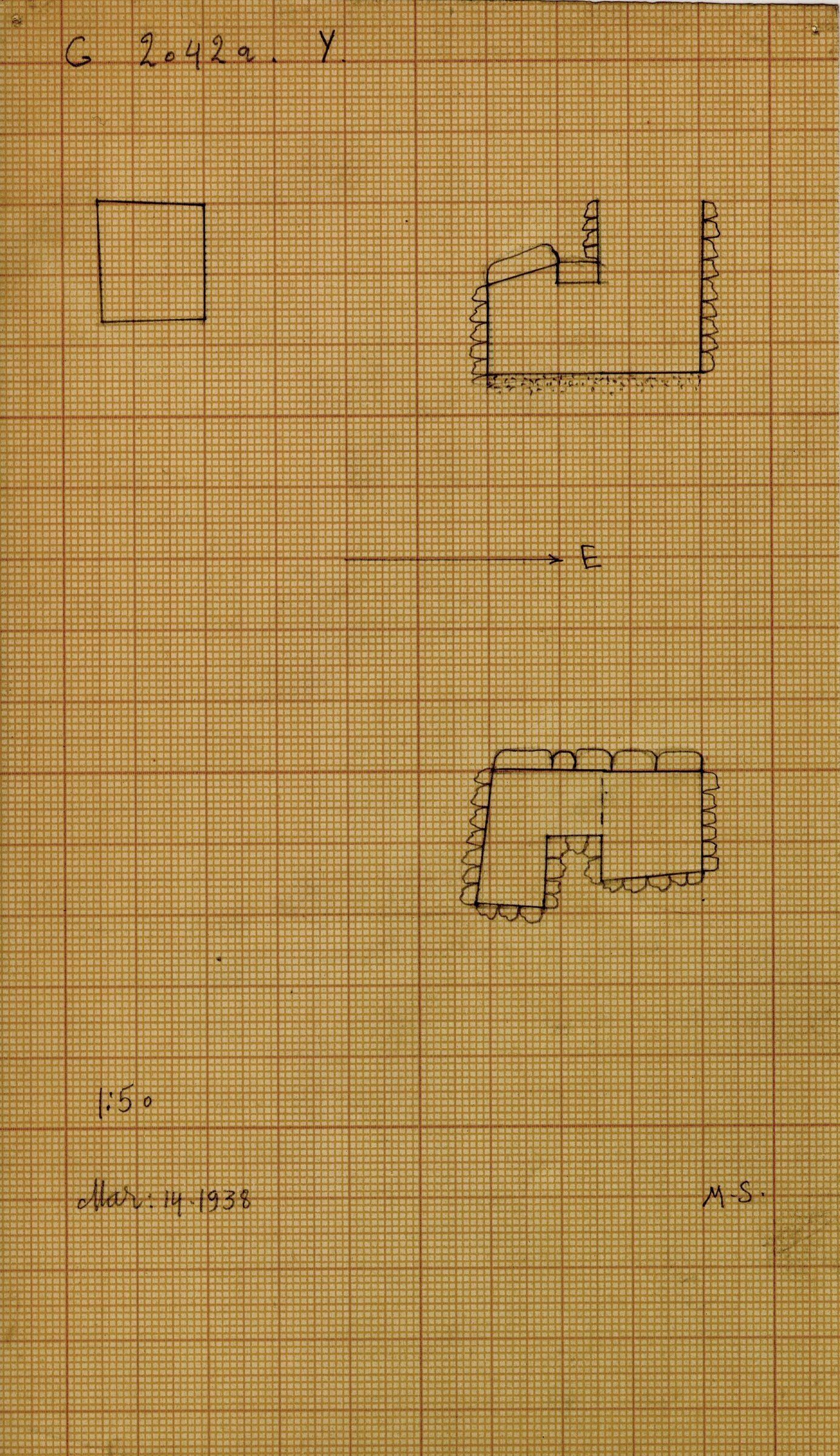 Maps and plans: G 2042a, Shaft Y