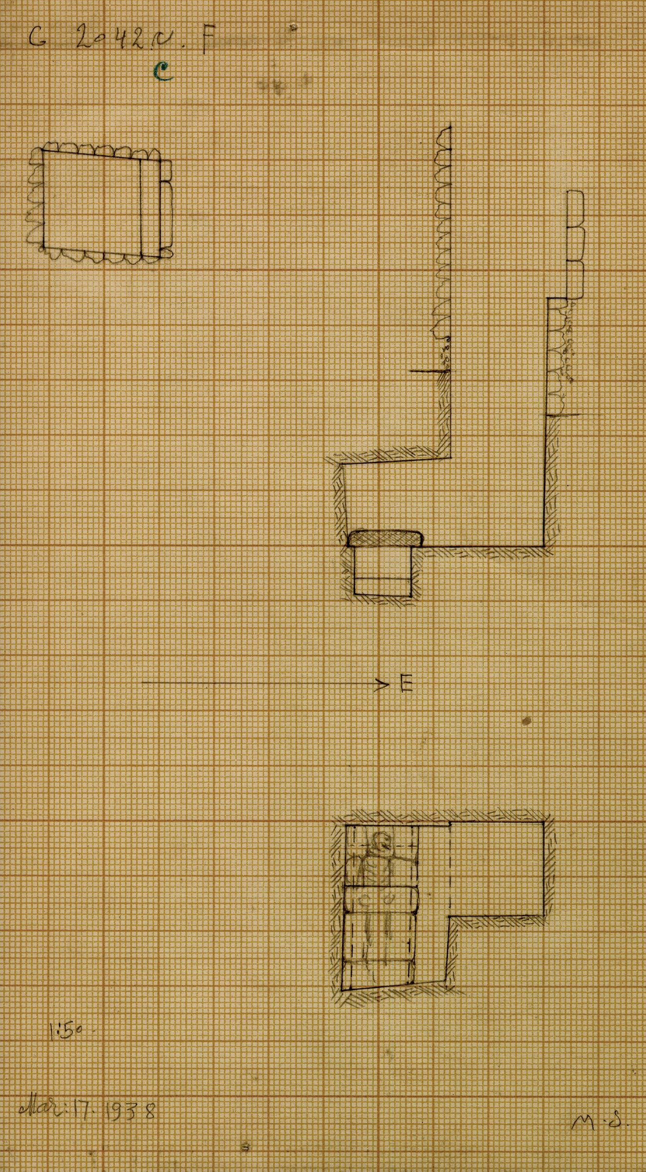 Maps and plans: G 2042c, Shaft F