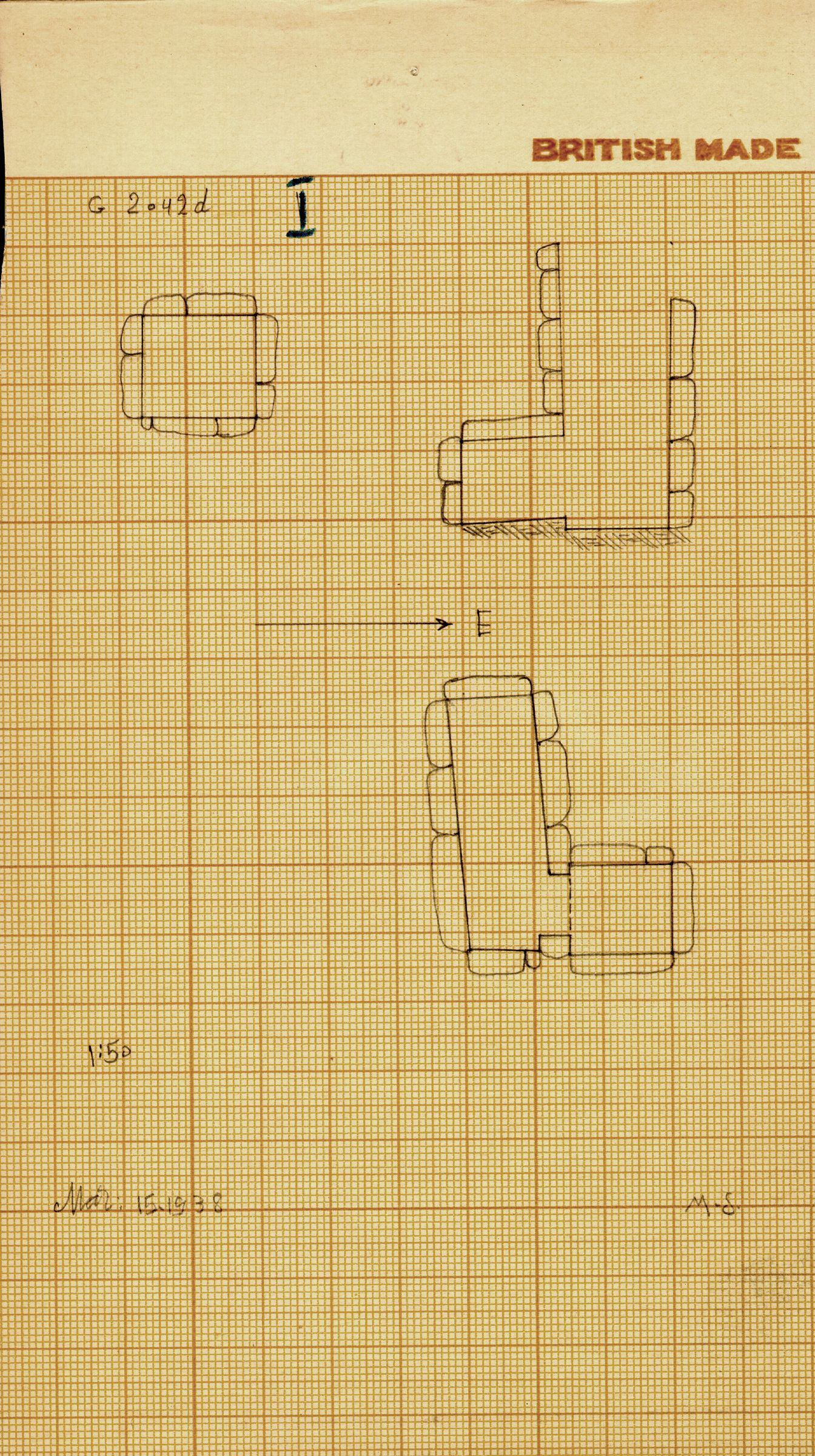 Maps and plans: G 2042d, Shaft I