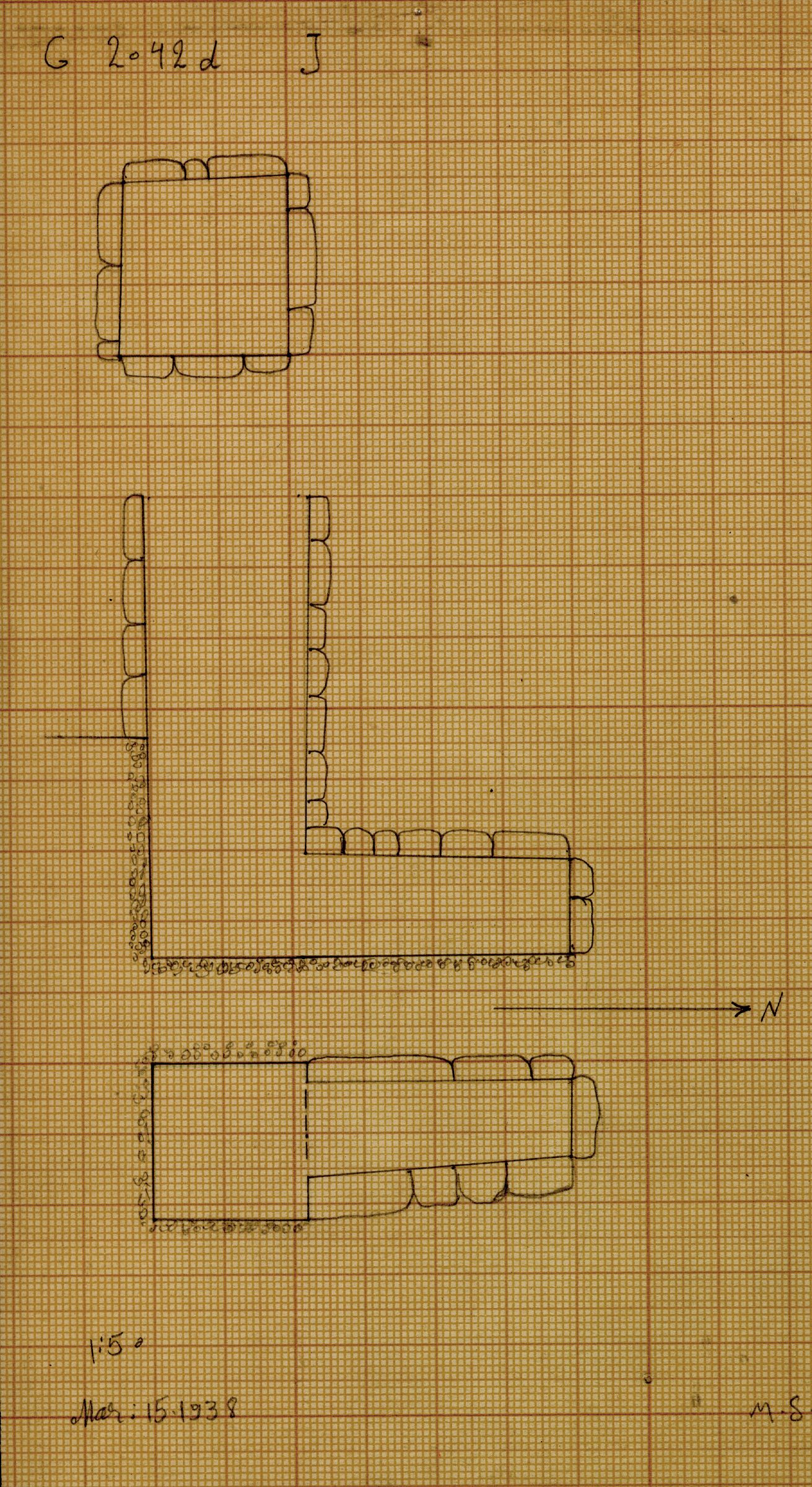 Maps and plans: G 2042d, Shaft J