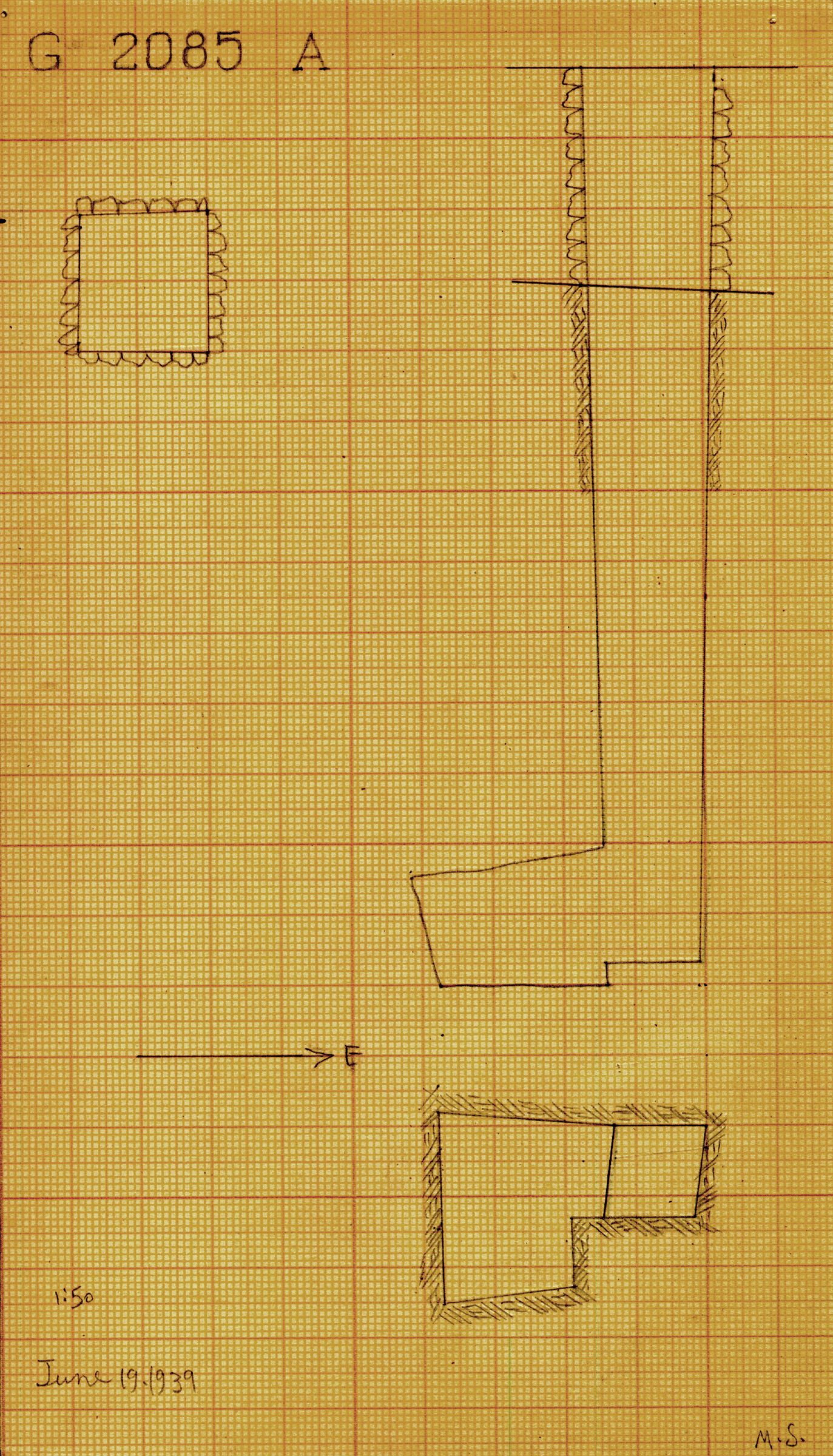 Maps and plans: G 2085, Shaft A