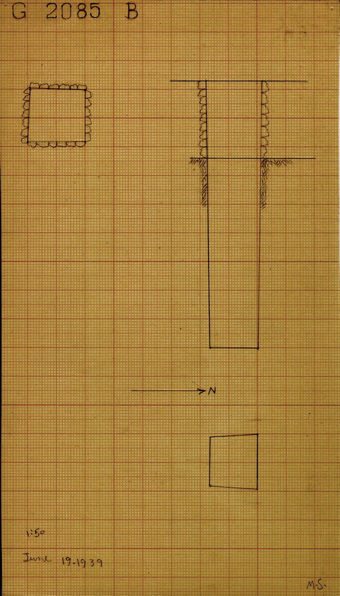 Maps and plans: G 2085, Shaft B