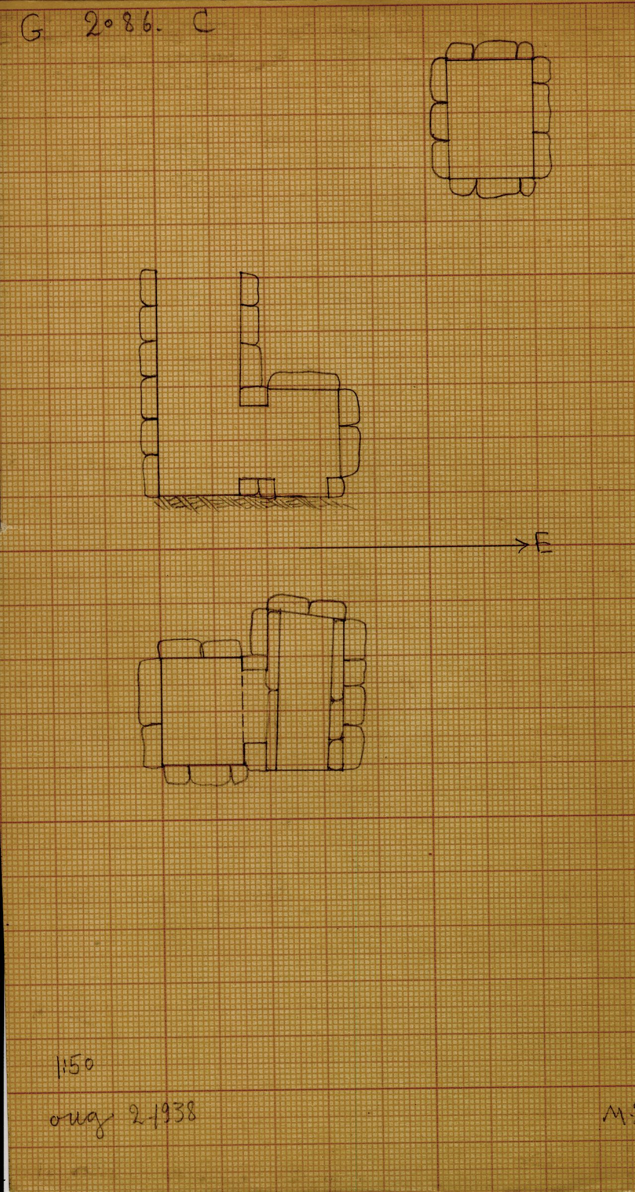 Maps and plans: G 2086, Shaft C