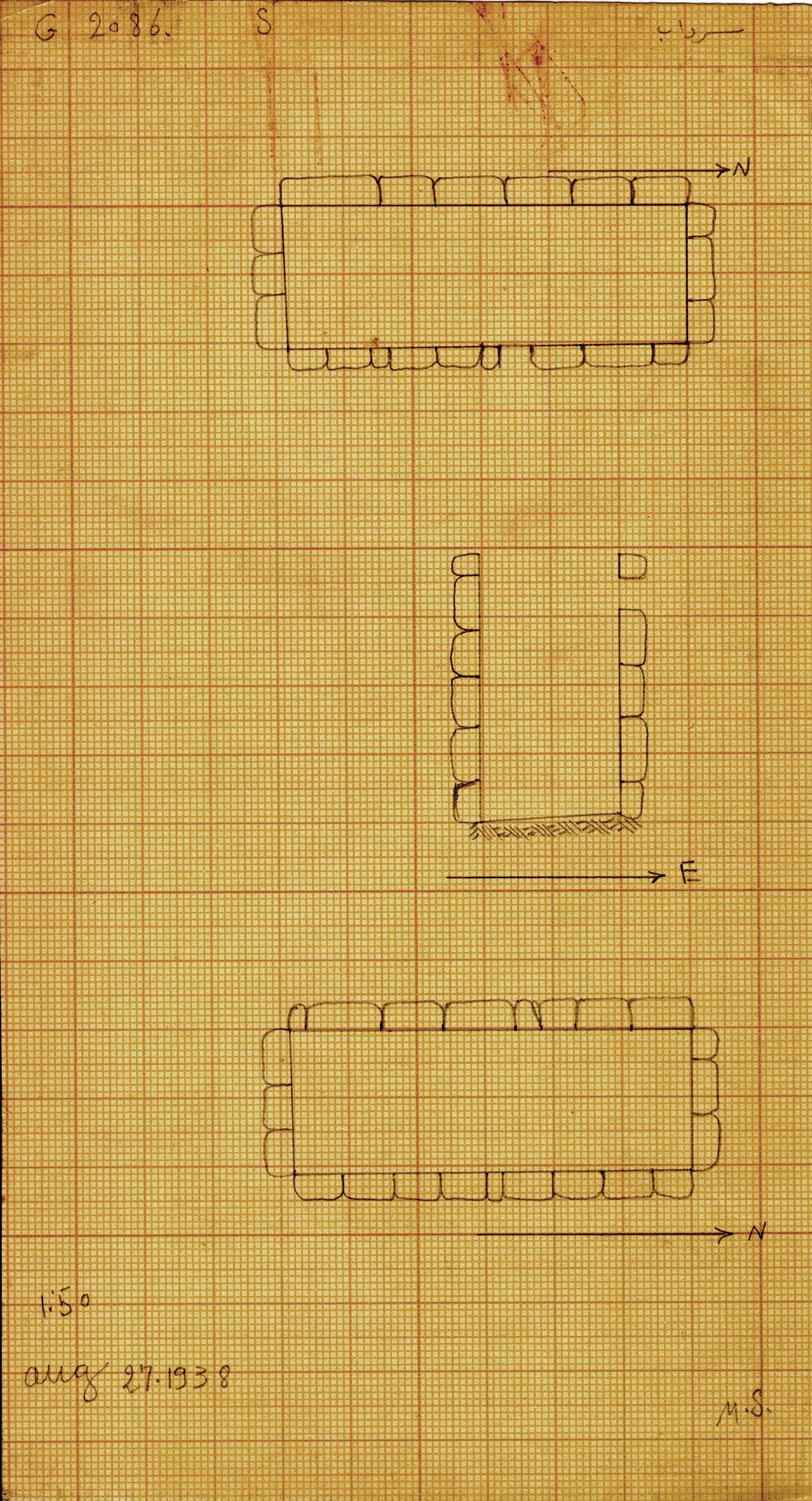 Maps and plans: G 2086, Serdab
