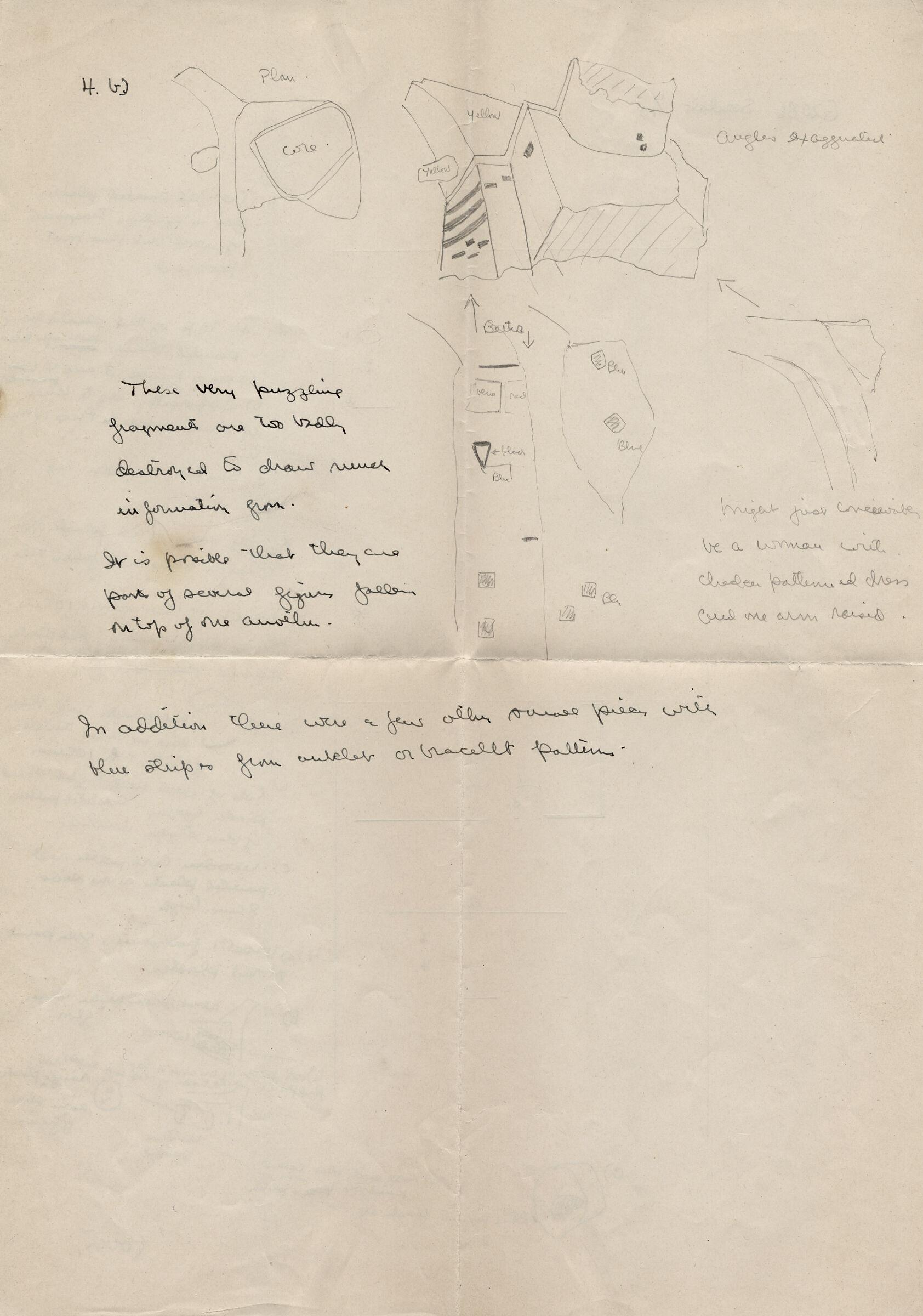 Drawings: G 2086, Serdab, notes