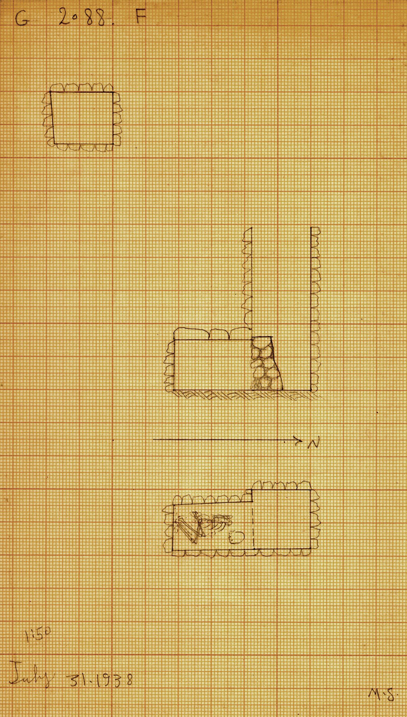 Maps and plans: G 2088, Shaft F