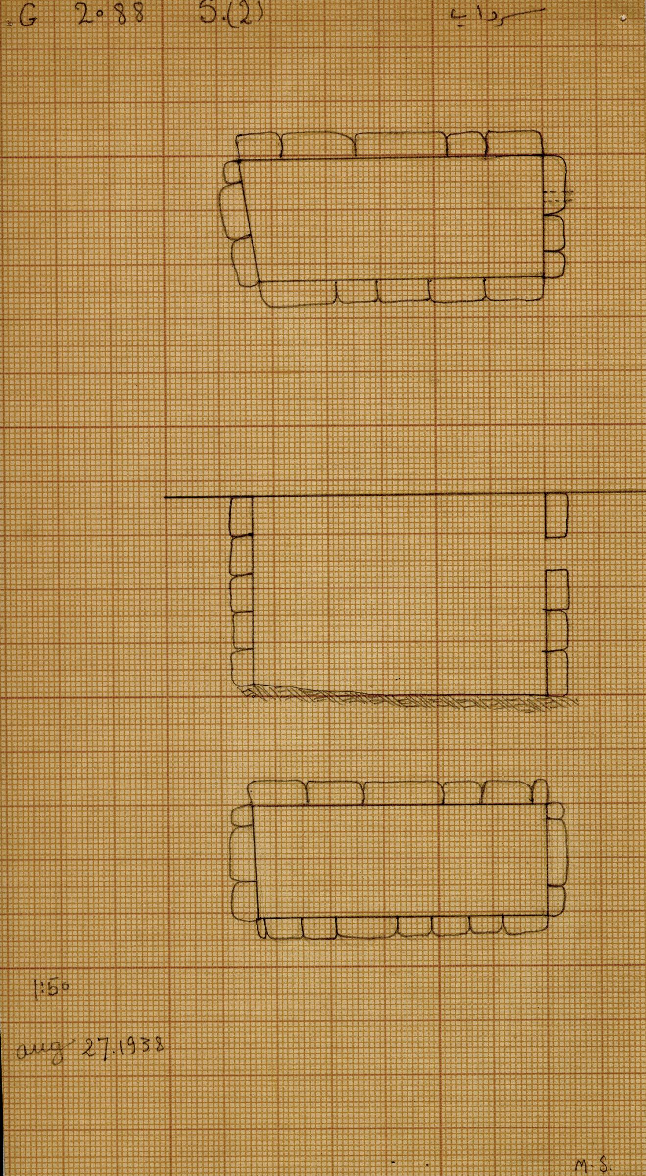 Maps and plans: G 2088, Serdab 2