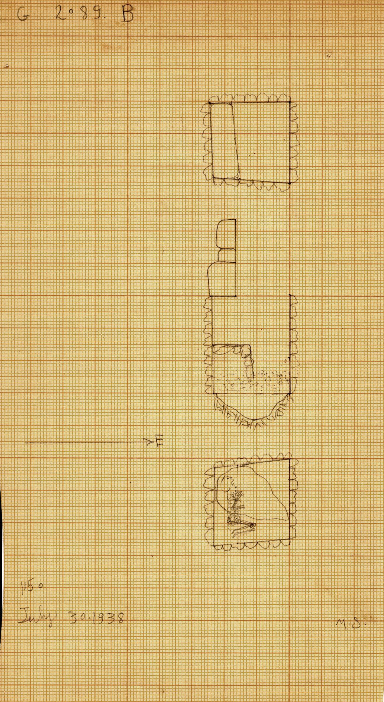 Maps and plans: G 2089, Shaft B