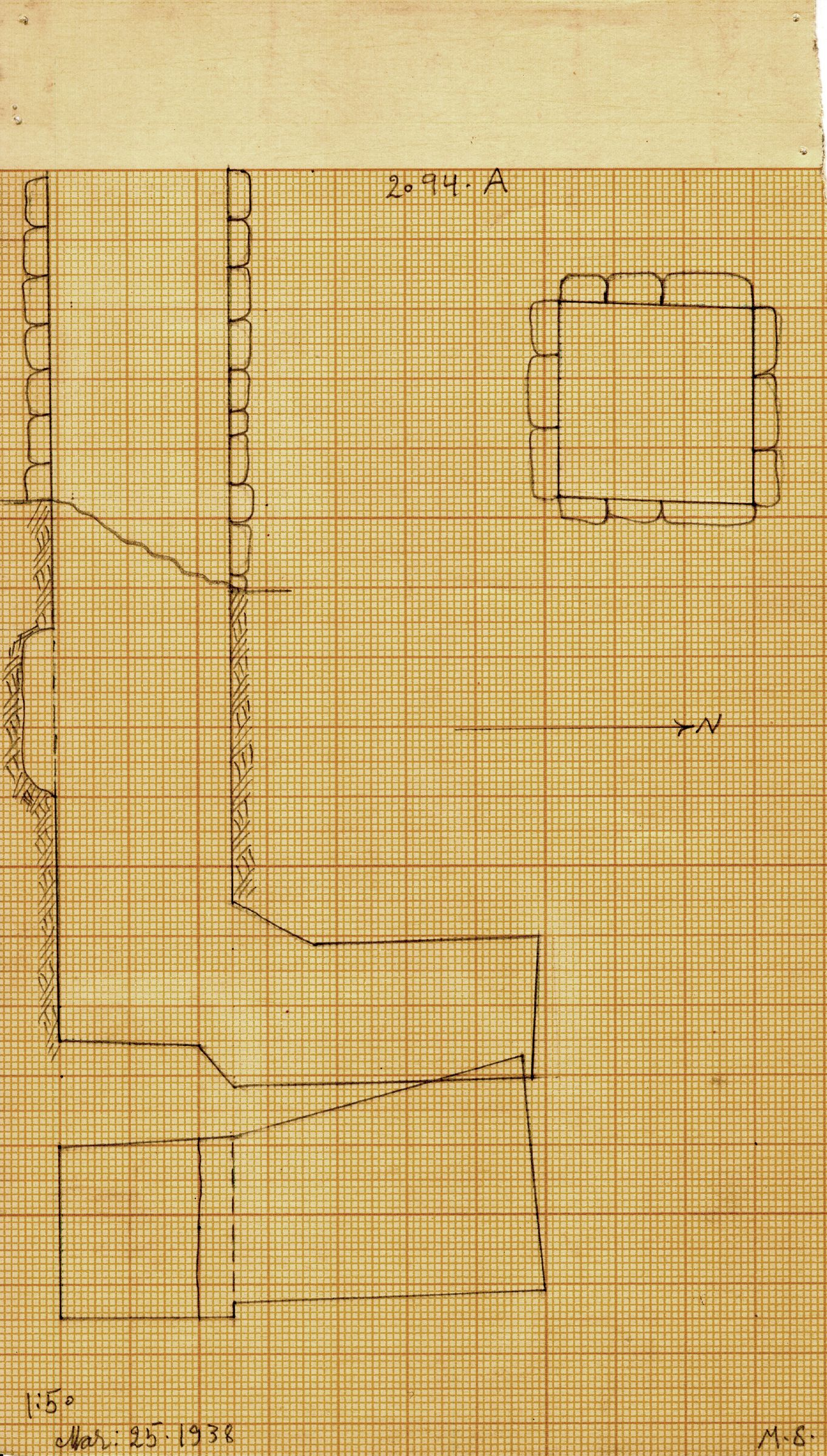 Maps and plans: G 2094, Shaft A