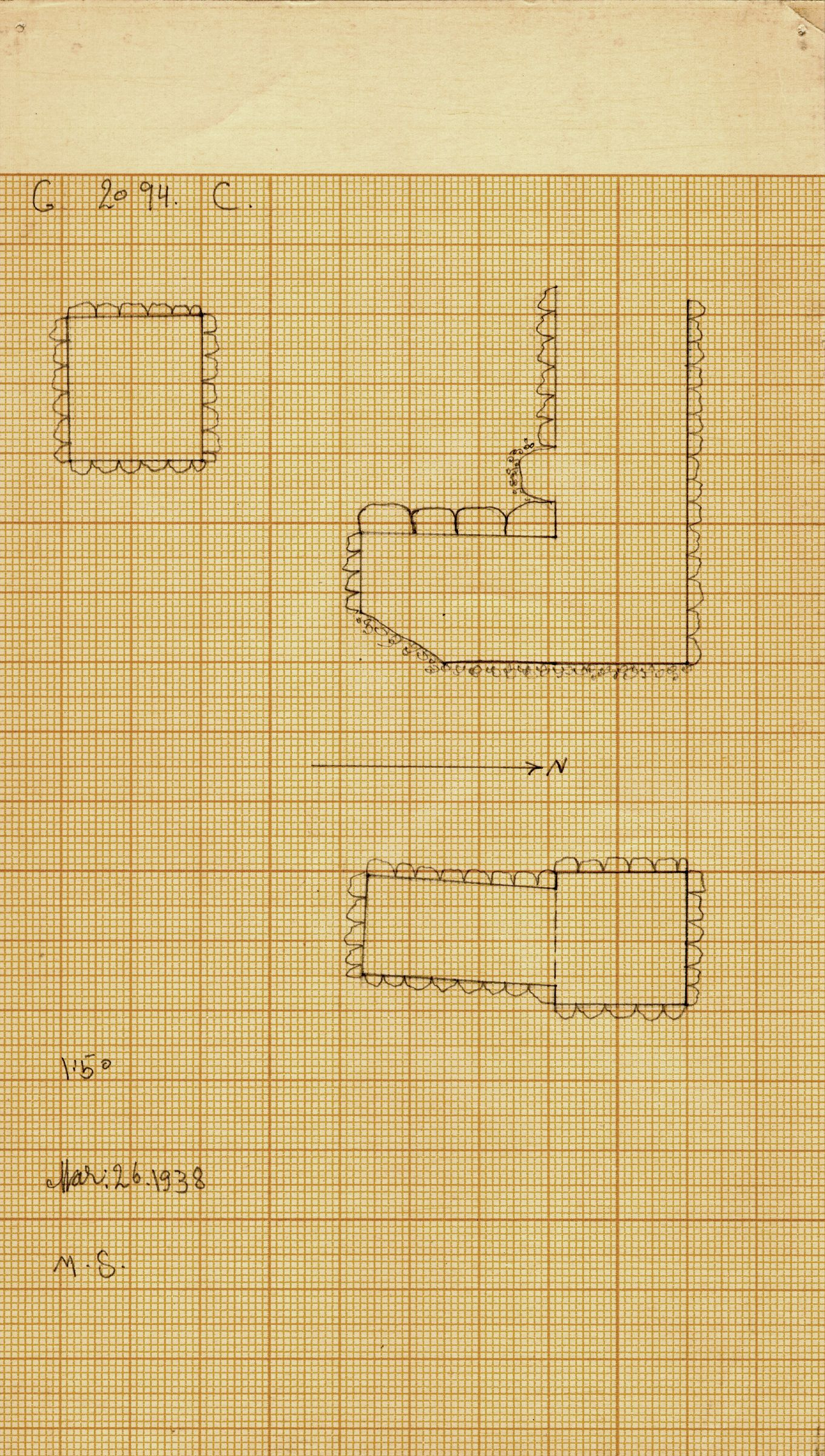 Maps and plans: G 2094, Shaft C