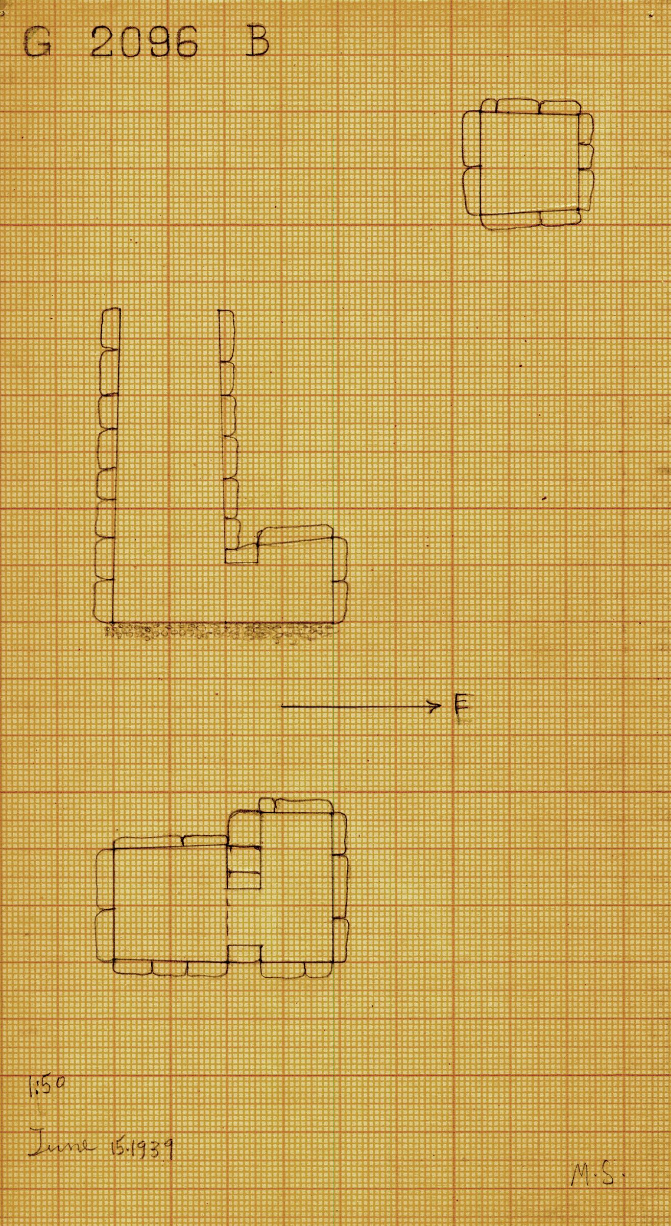 Maps and plans: G 2096, Shaft B
