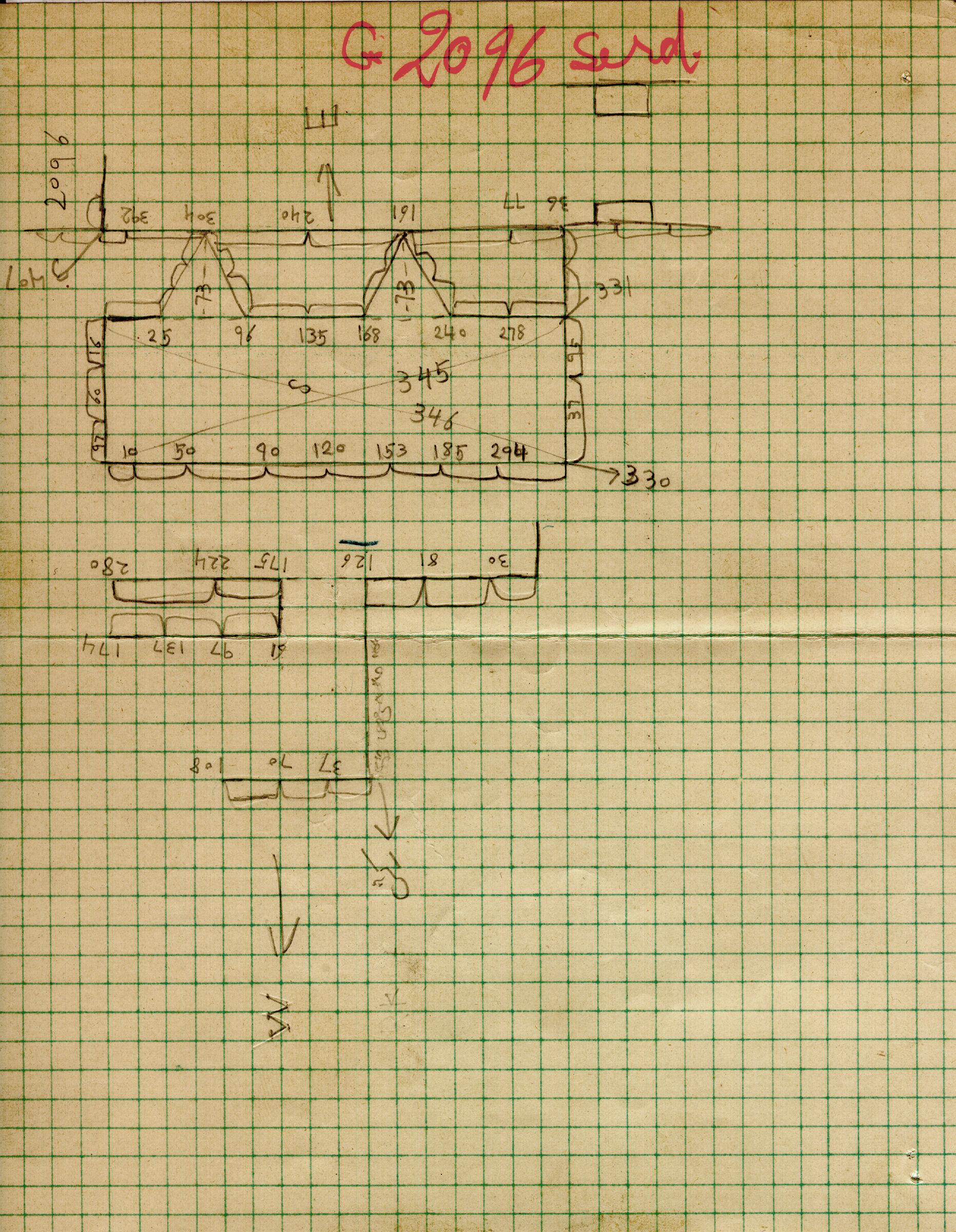 Maps and plans: G 2096, Serdab