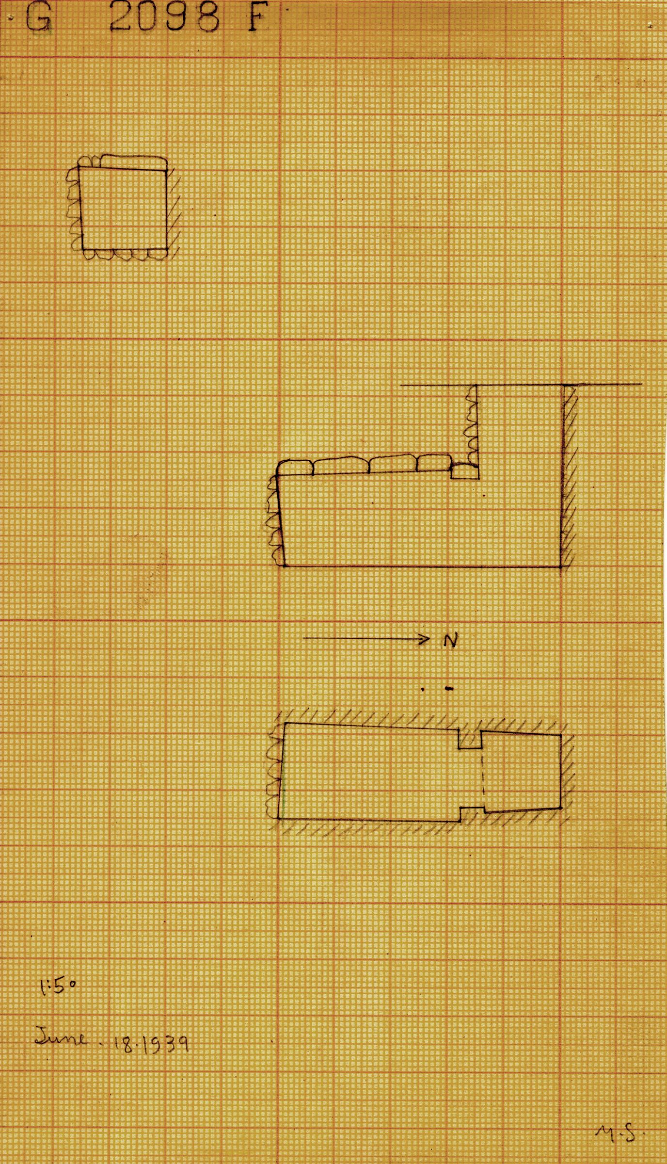 Maps and plans: G 2098, Shaft F